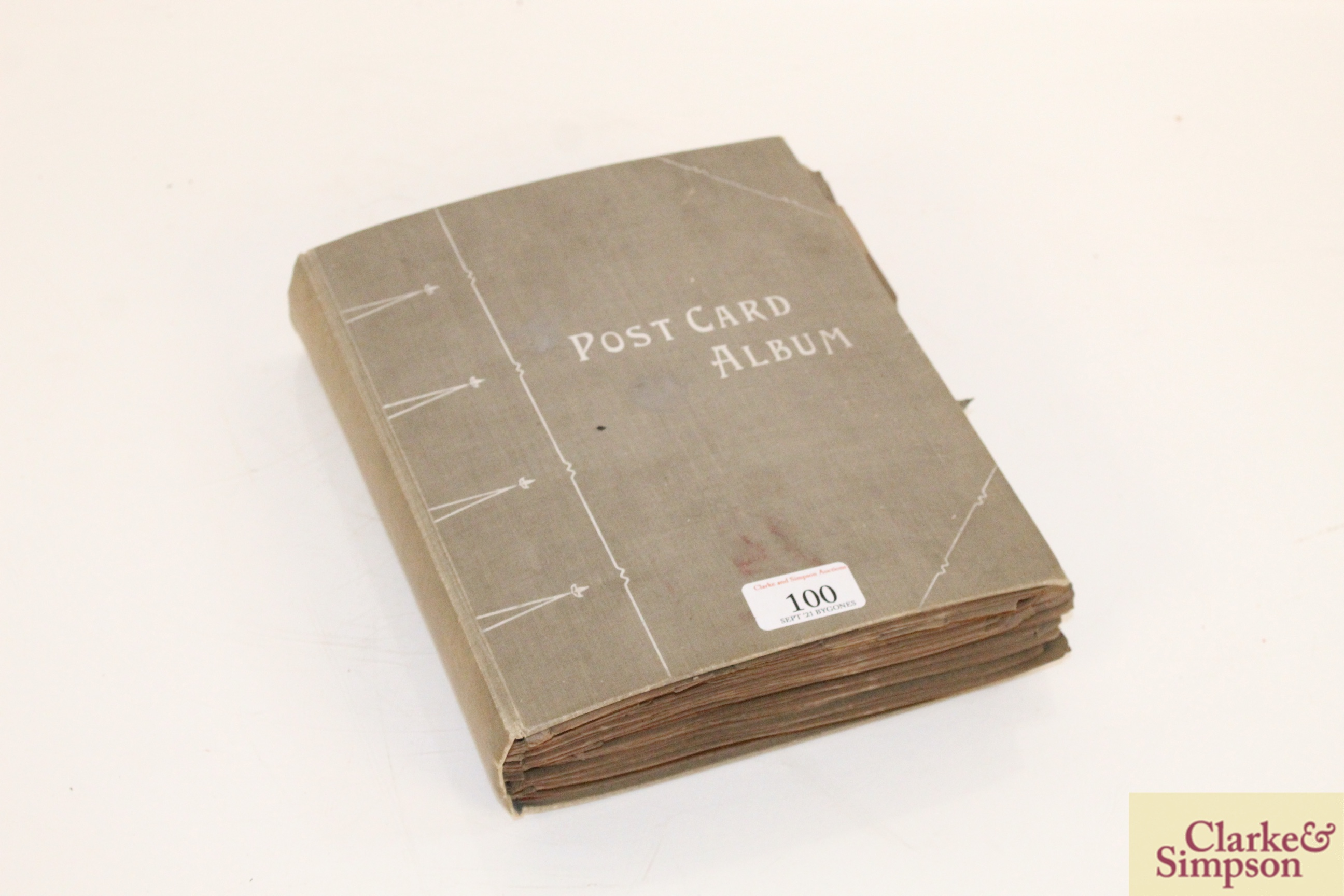 An early 20th Century post-card album containing a