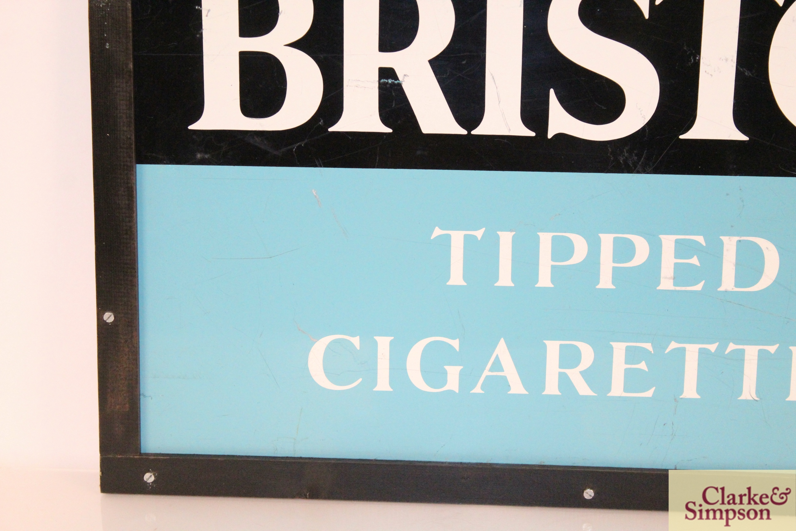 """A """"Bristol Tipped Cigarettes"""" enamel advertising sign, - Image 5 of 5"""