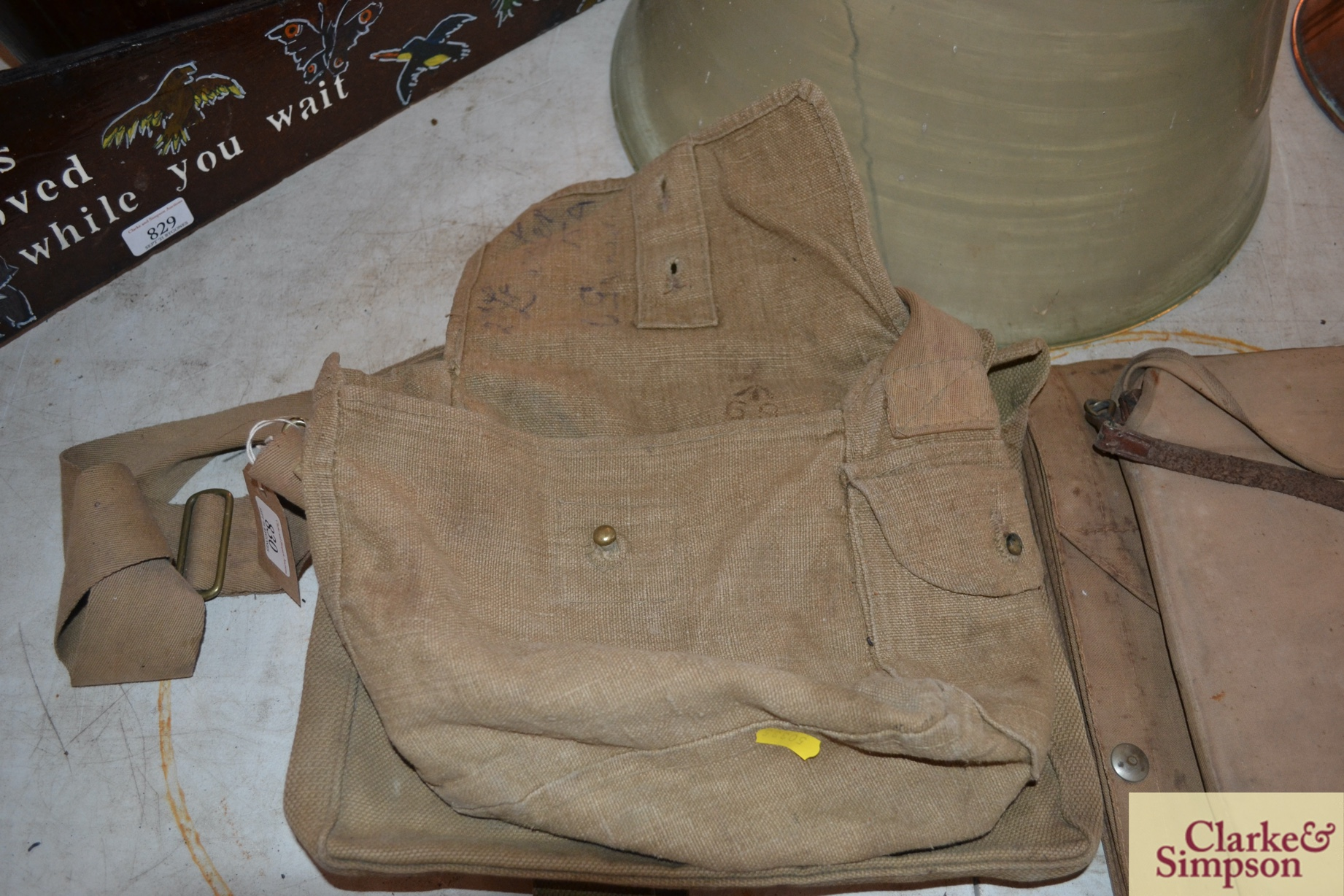 Two ex-war department canvas carrying bags - Image 5 of 7