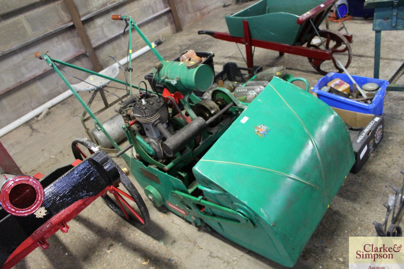A Ransomes cylinder ride-on mower