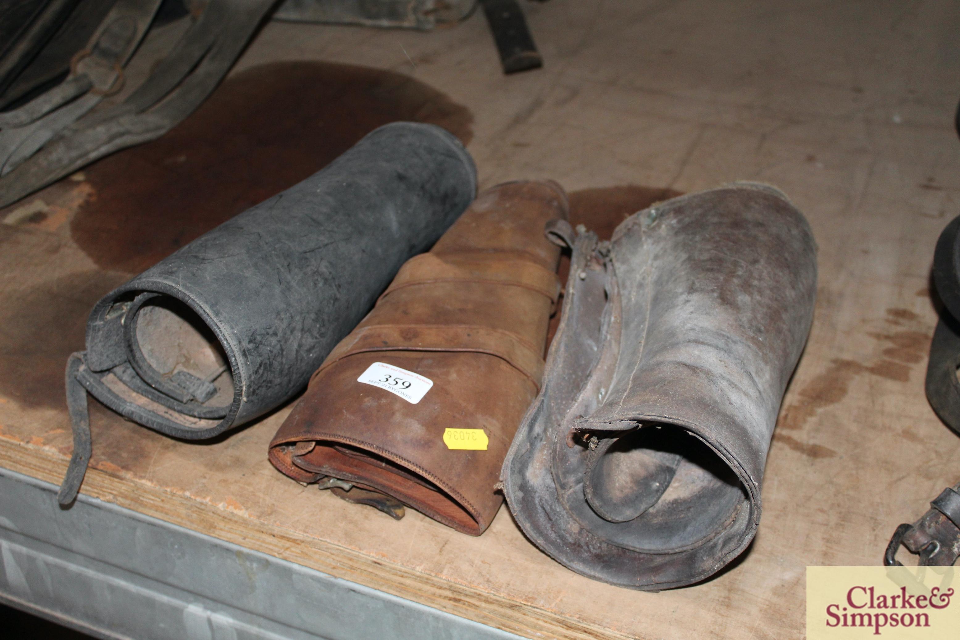 Three sets of vintage buskins