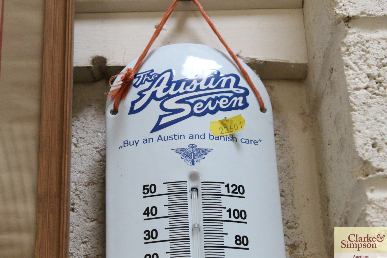 An enamel advertising thermometer for the Austin 7 - Image 2 of 5