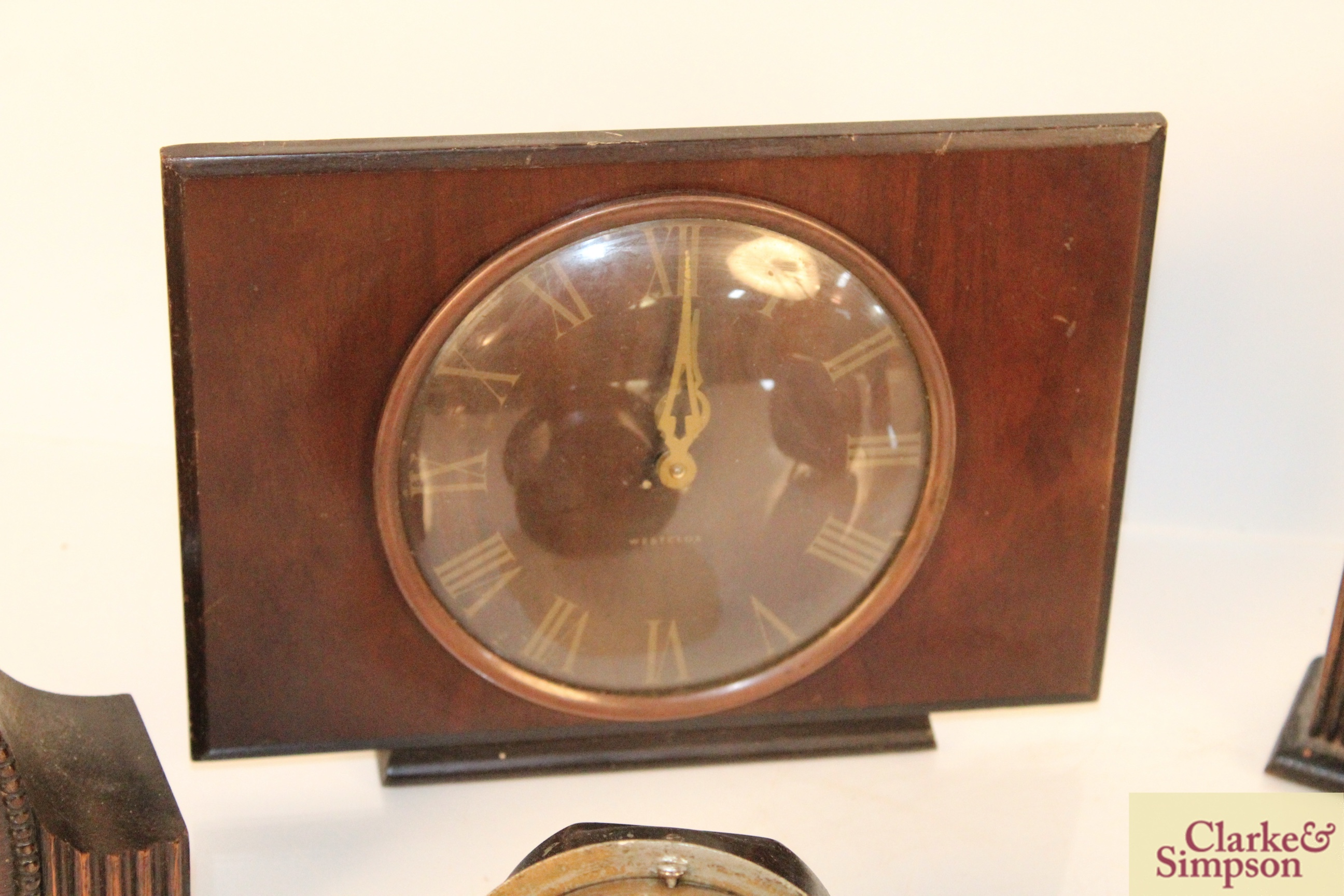 A collection of vintage clocks including a war ala - Image 3 of 7