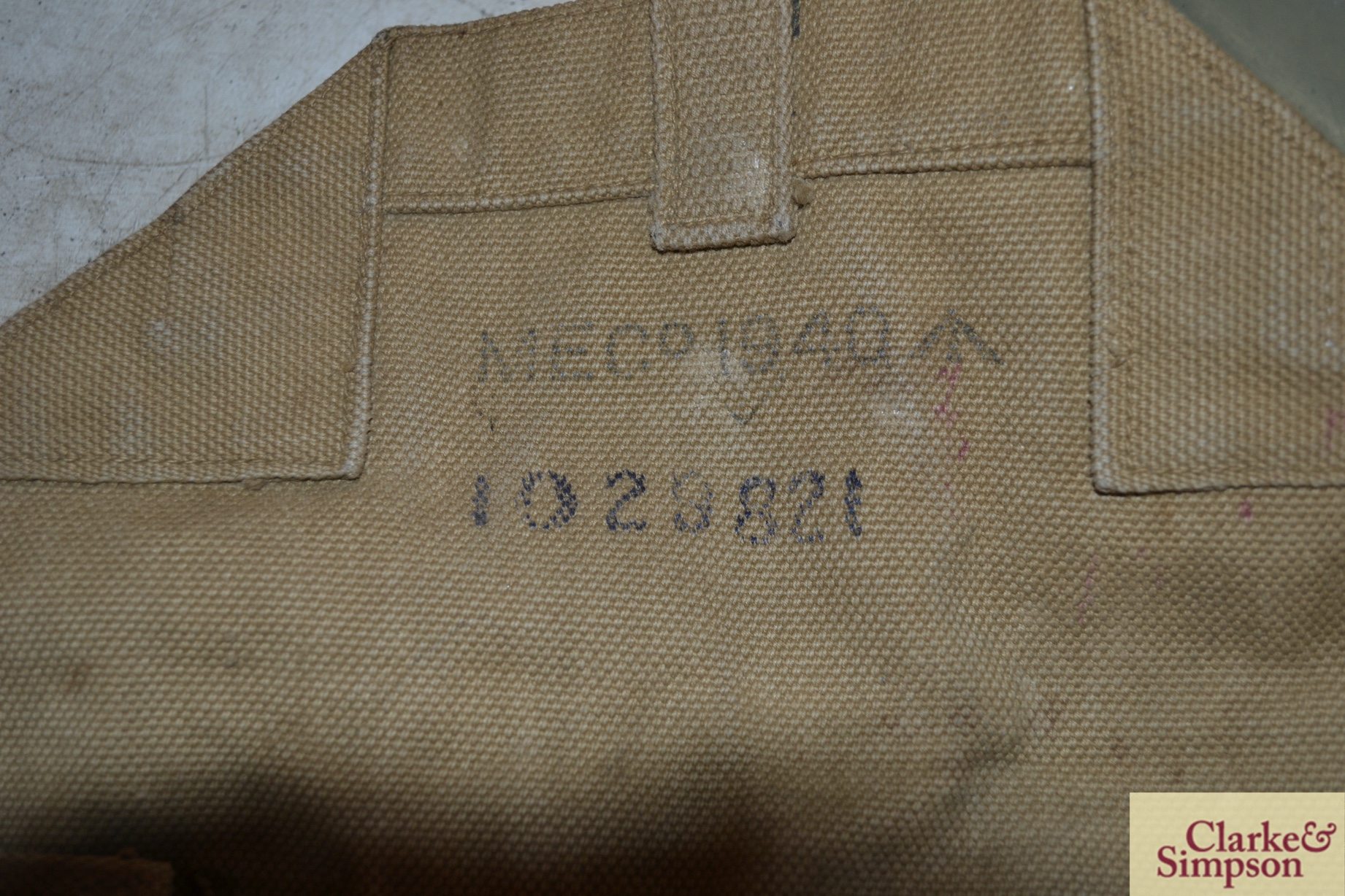 Two ex-war department canvas carrying bags - Image 3 of 7