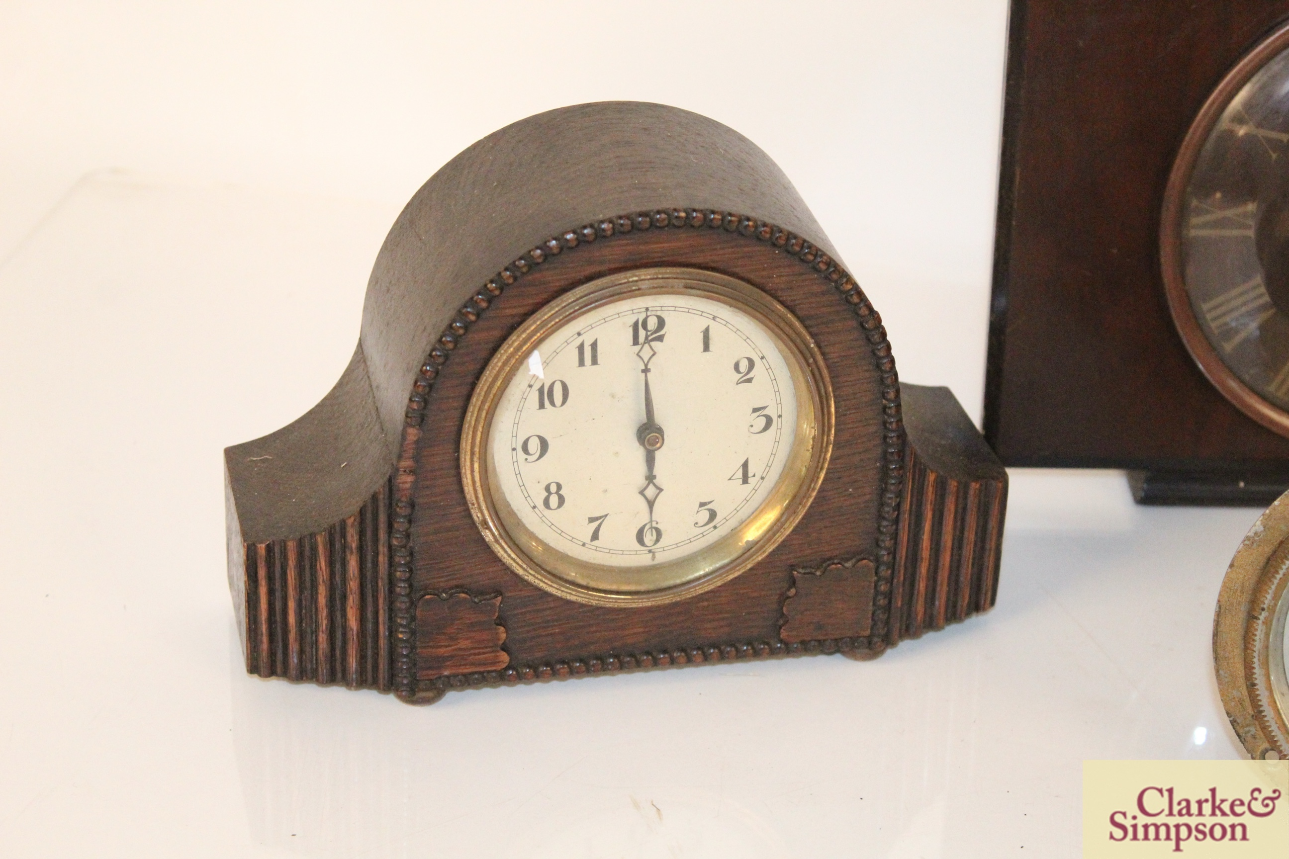 A collection of vintage clocks including a war ala - Image 2 of 7