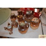 A quantity of Doulton and other Harvestware jugs,