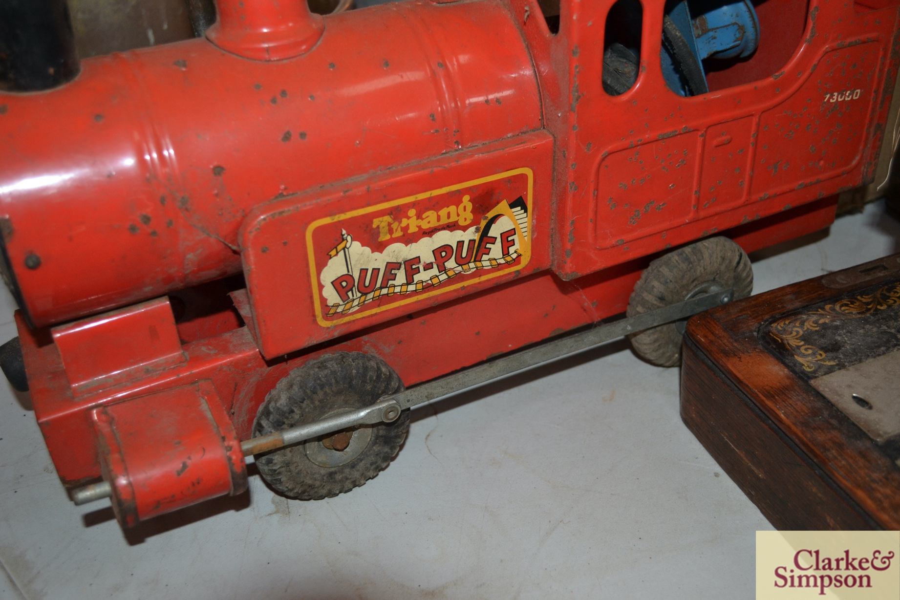 A Triang tin plate Puff Puff toy train and origina - Image 2 of 4