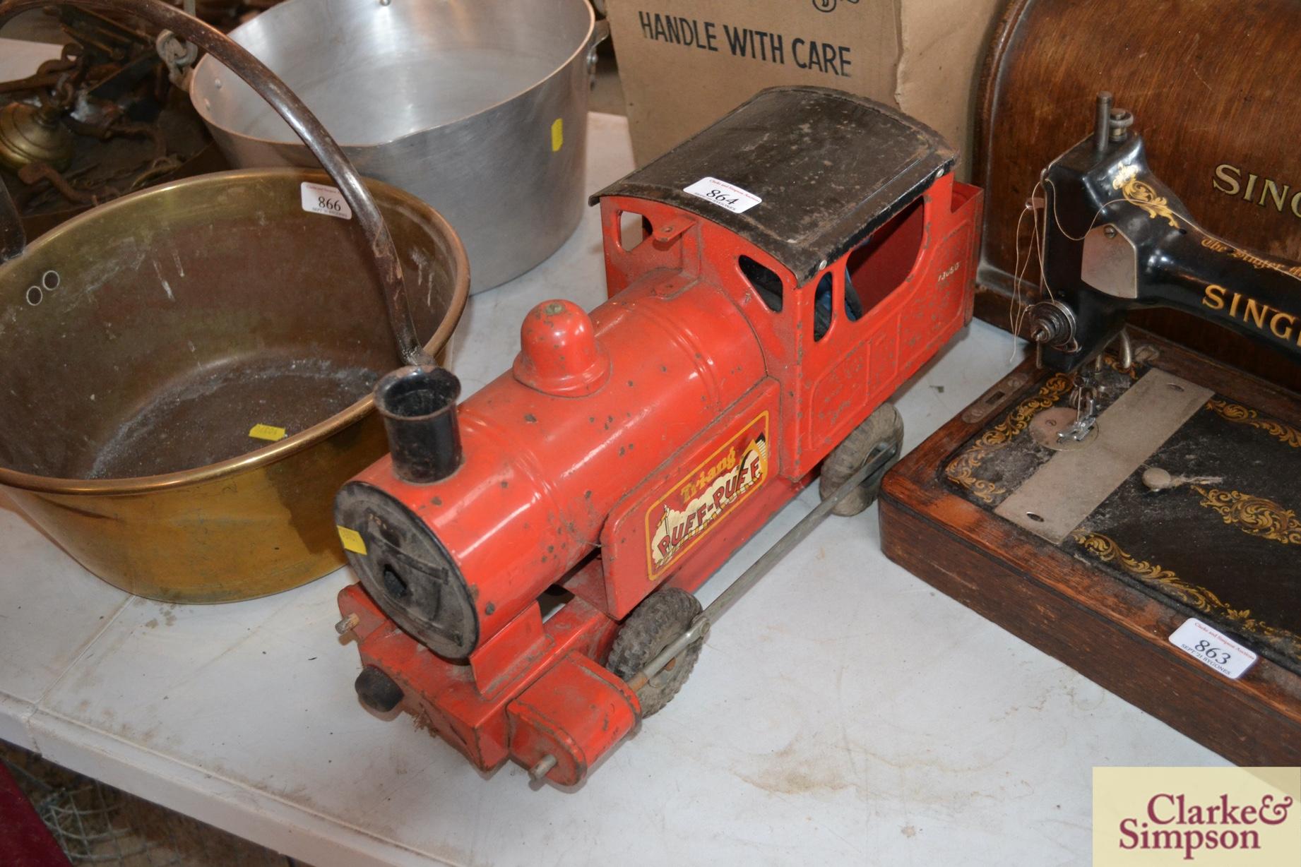 A Triang tin plate Puff Puff toy train and origina