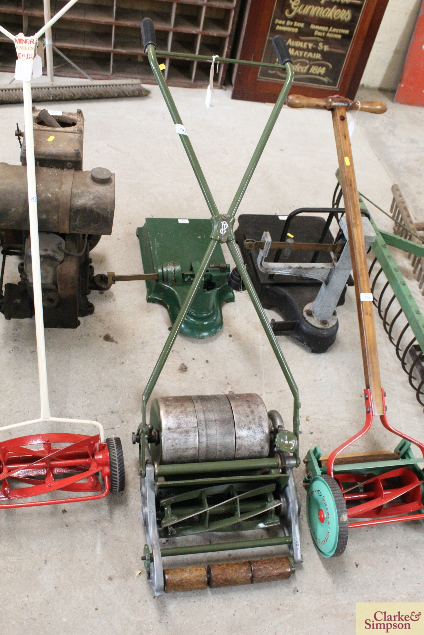 """A Jerome & Pearson 12"""" Super cylinder mower"""