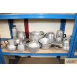 A collection of aluminium kitchenware