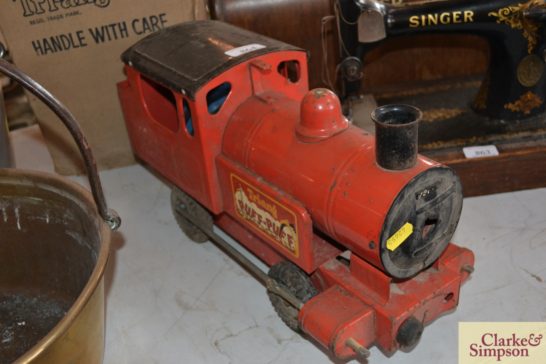 A Triang tin plate Puff Puff toy train and origina - Image 3 of 4