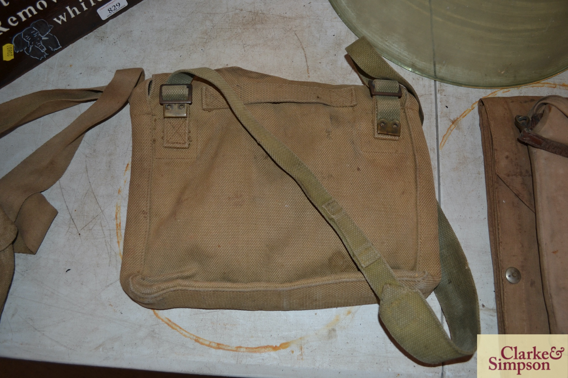 Two ex-war department canvas carrying bags - Image 4 of 7