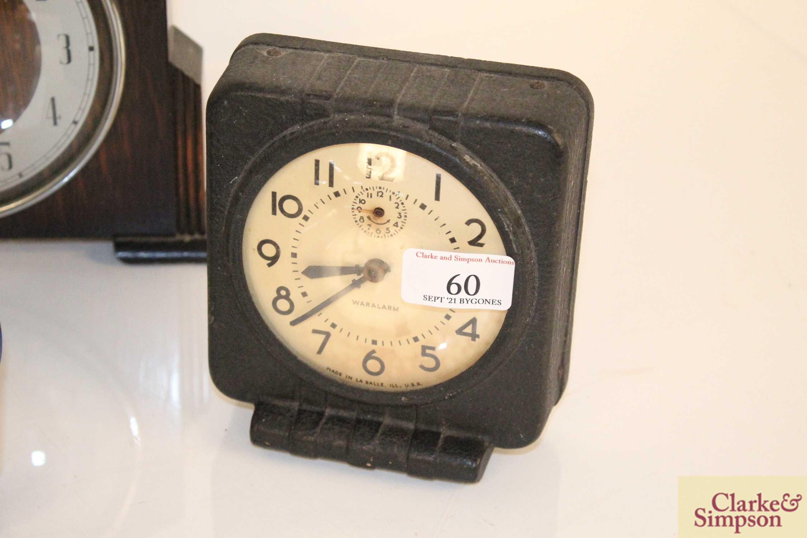 A collection of vintage clocks including a war ala - Image 7 of 7