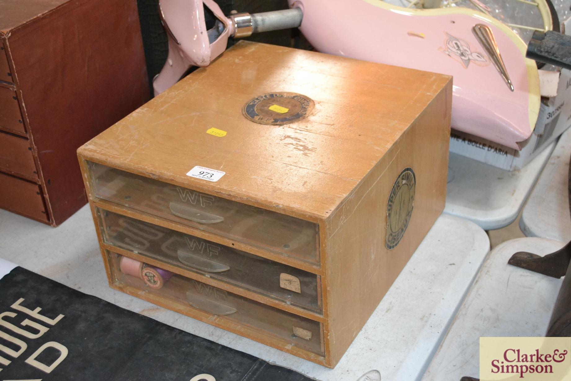 A WF Super Simili set of Ciseaux reel drawers