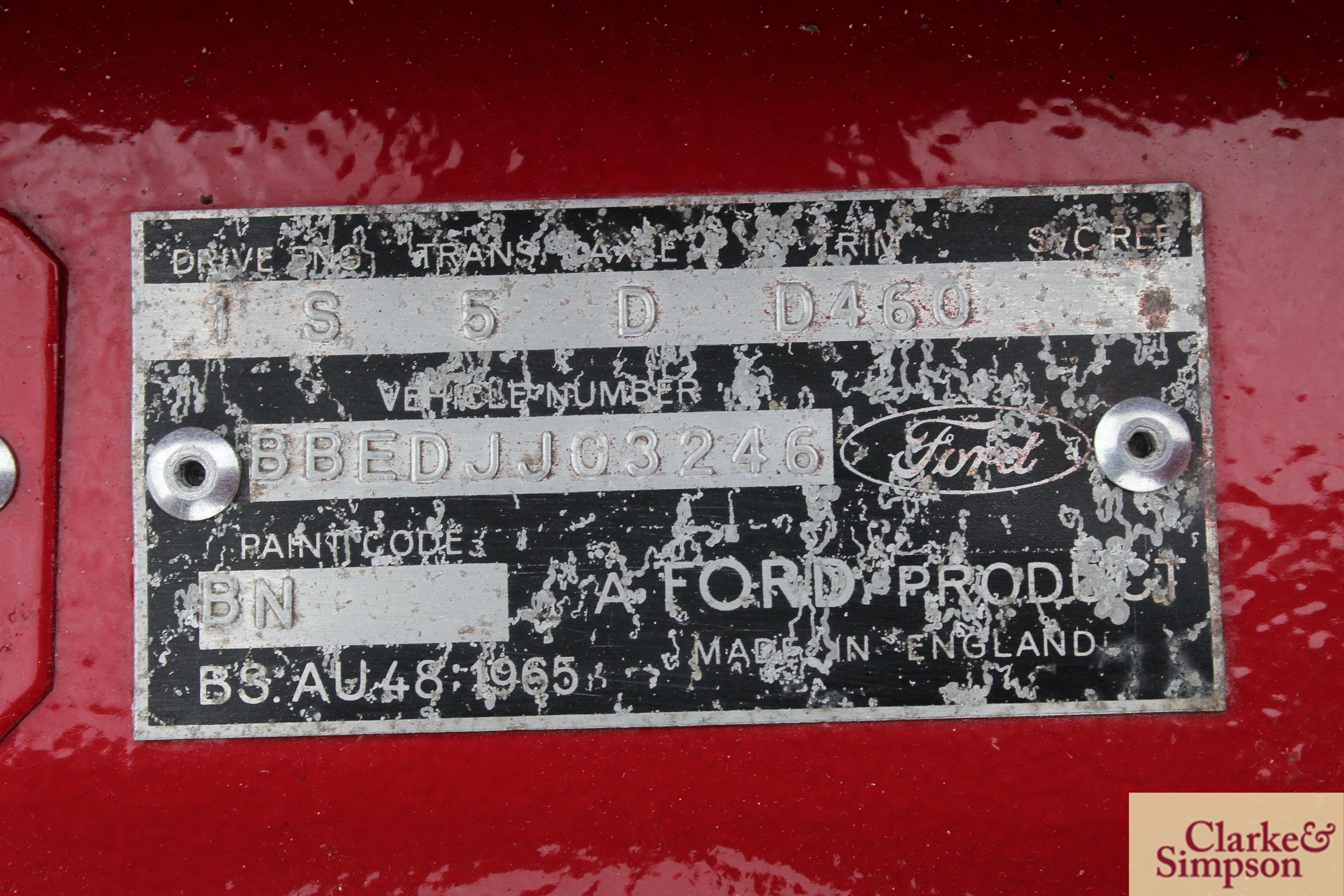 Ford Capri MK1 1300. Registration XBJ 188G. Date o - Image 43 of 65