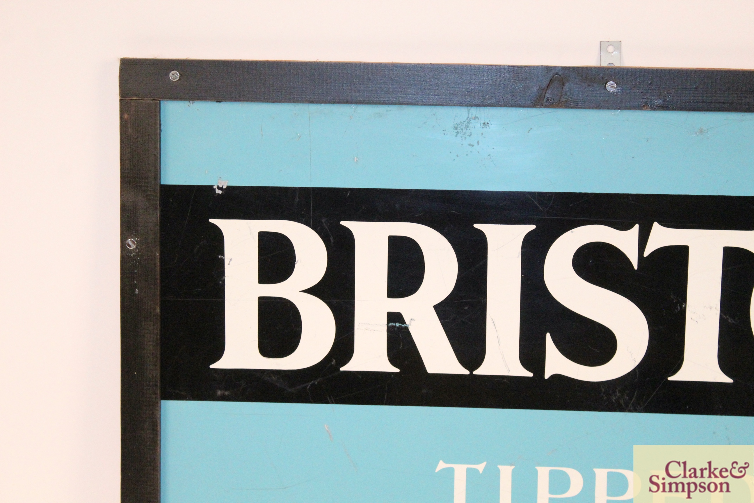 """A """"Bristol Tipped Cigarettes"""" enamel advertising sign, - Image 2 of 5"""