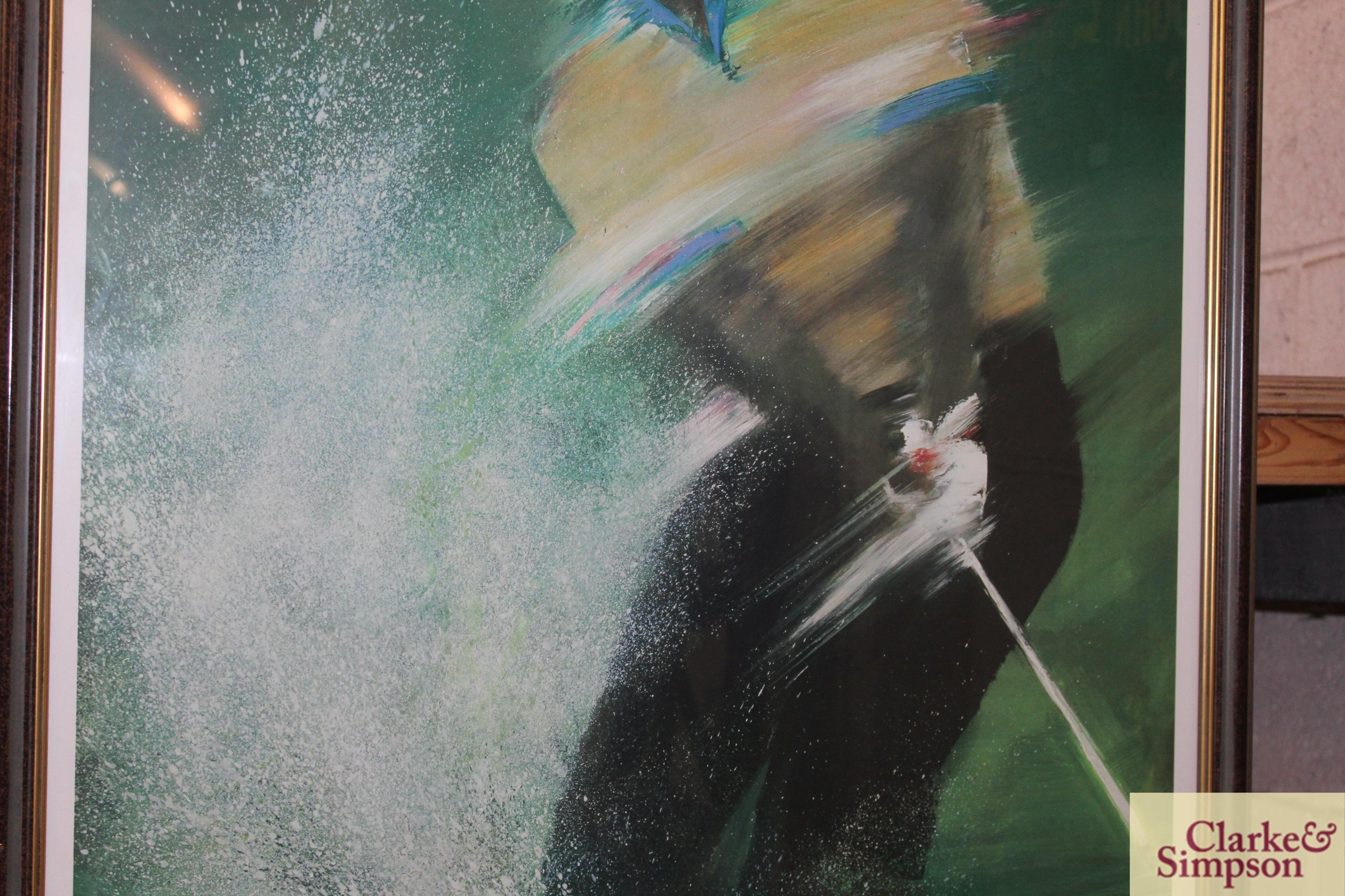 A Lee Travino framed golfing print - Image 3 of 4
