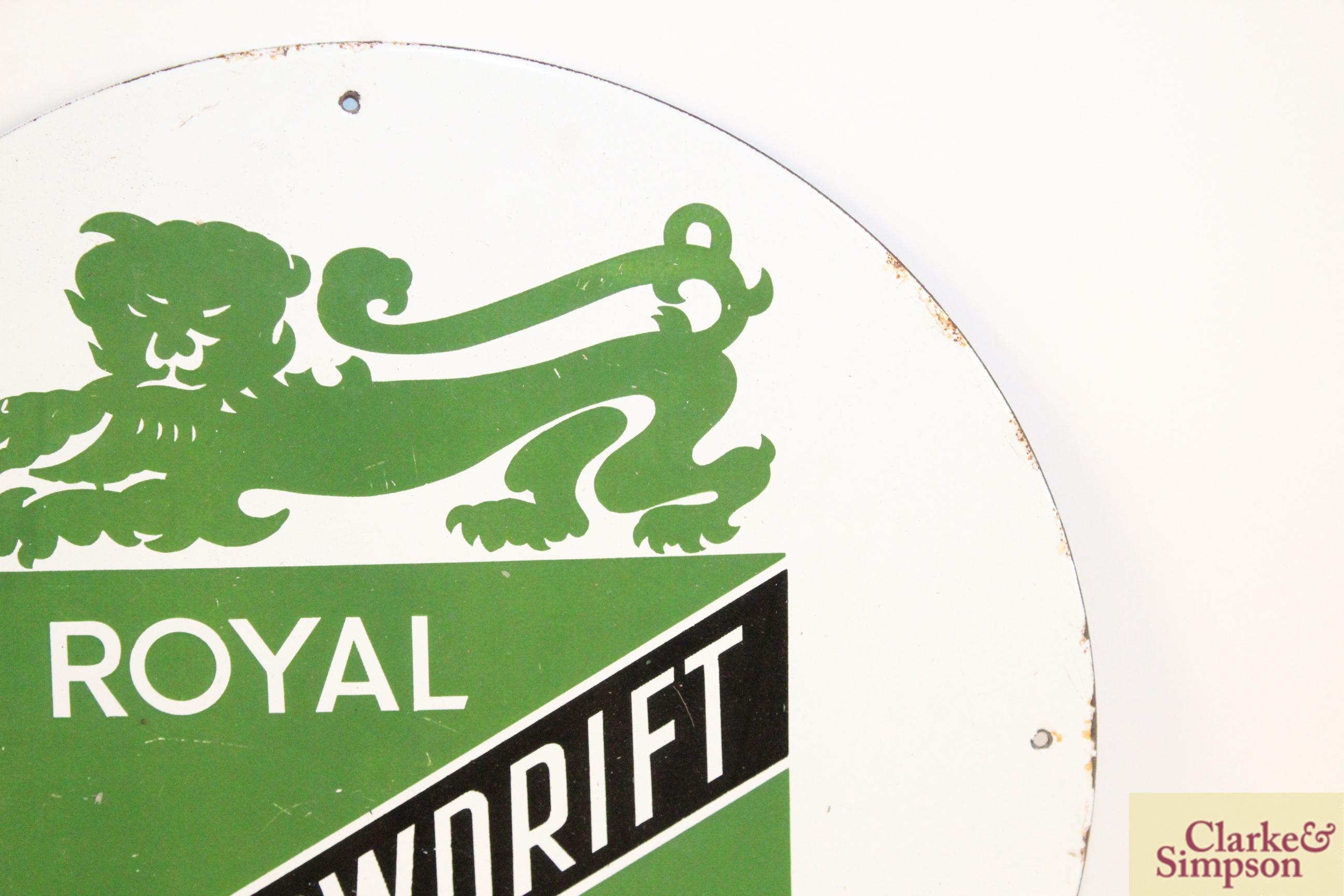 "A circular enamel sign for ""Royal Snowdrift Oil"", - Image 3 of 10"