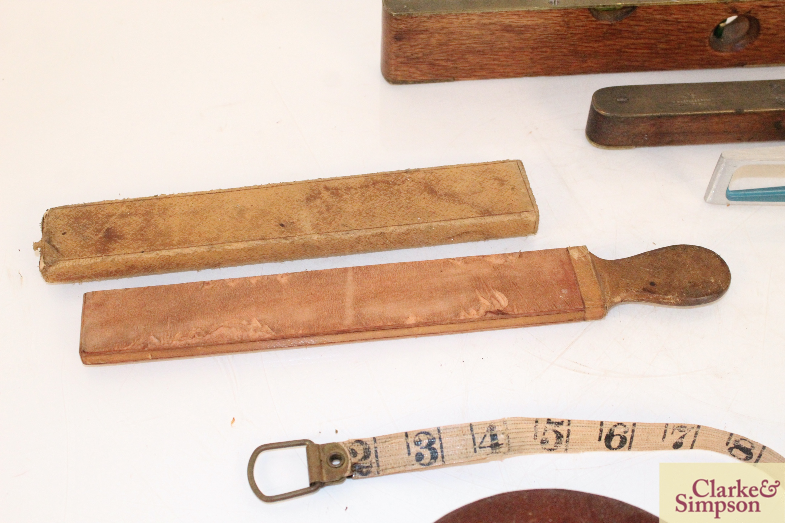 Three various spirit levels, a surveyors tape, a h - Image 5 of 6