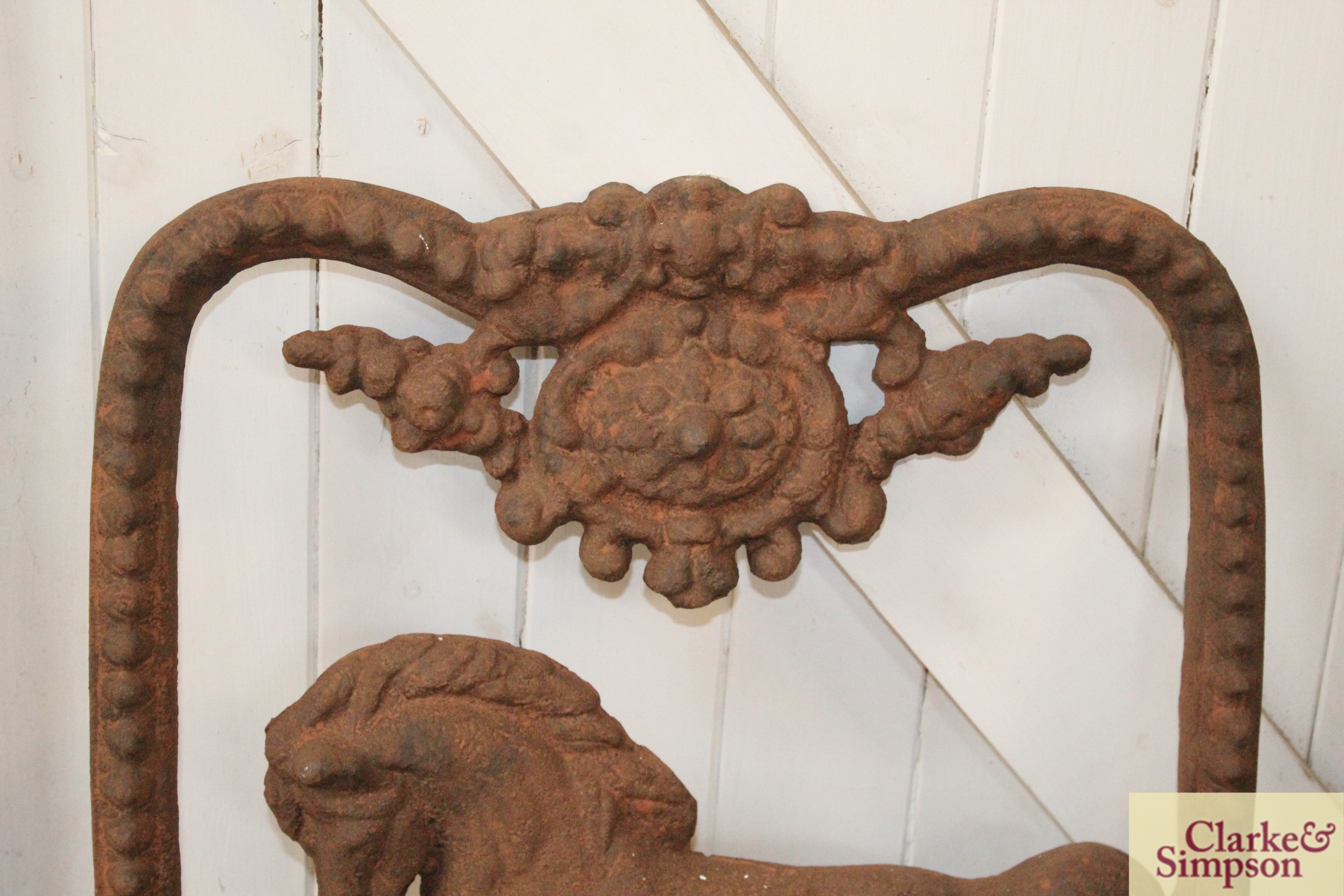 A Victorian style cast iron horse decorated stable windo - Image 2 of 4