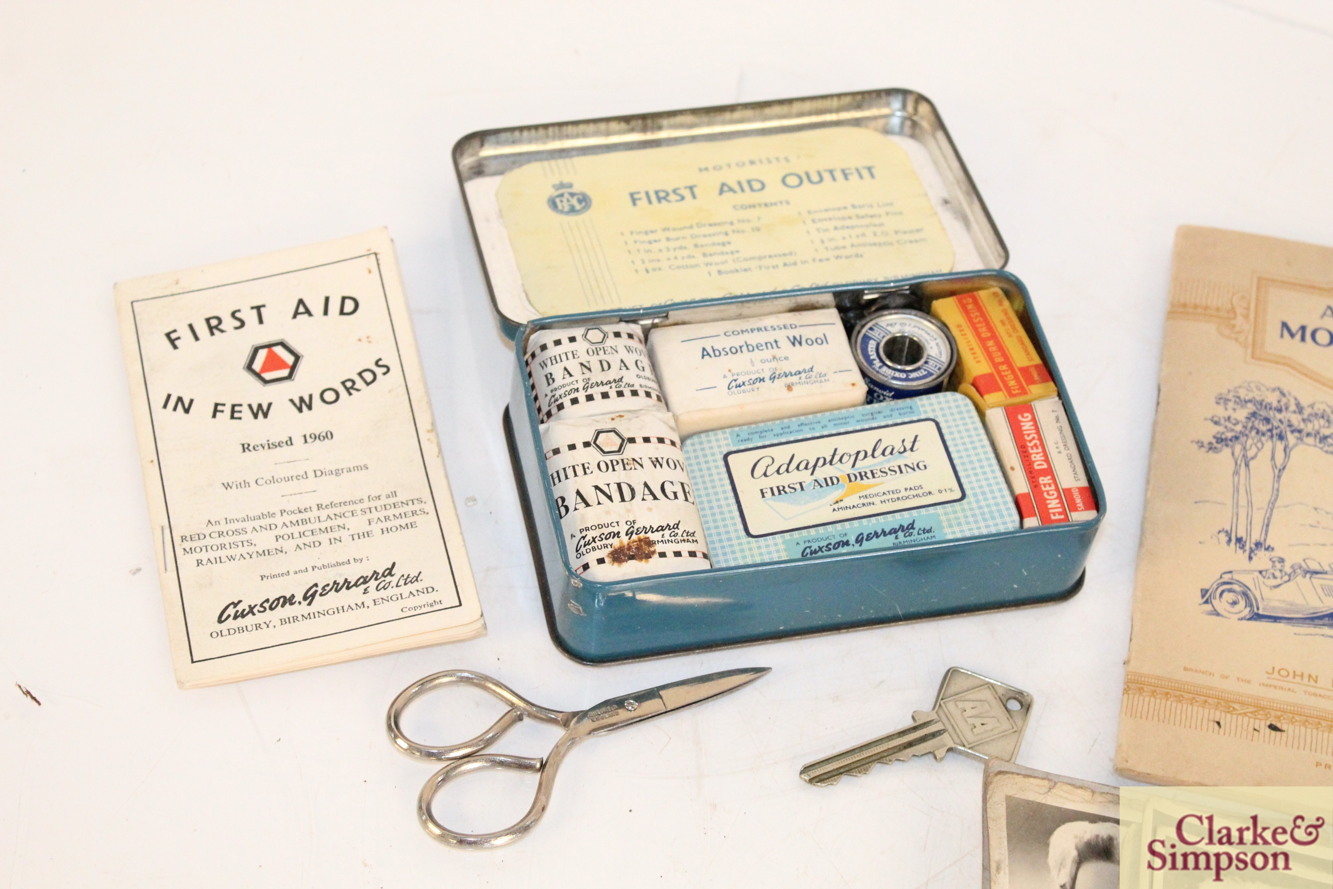 A vintage motorist's First Aid kit; various albums o - Image 2 of 9