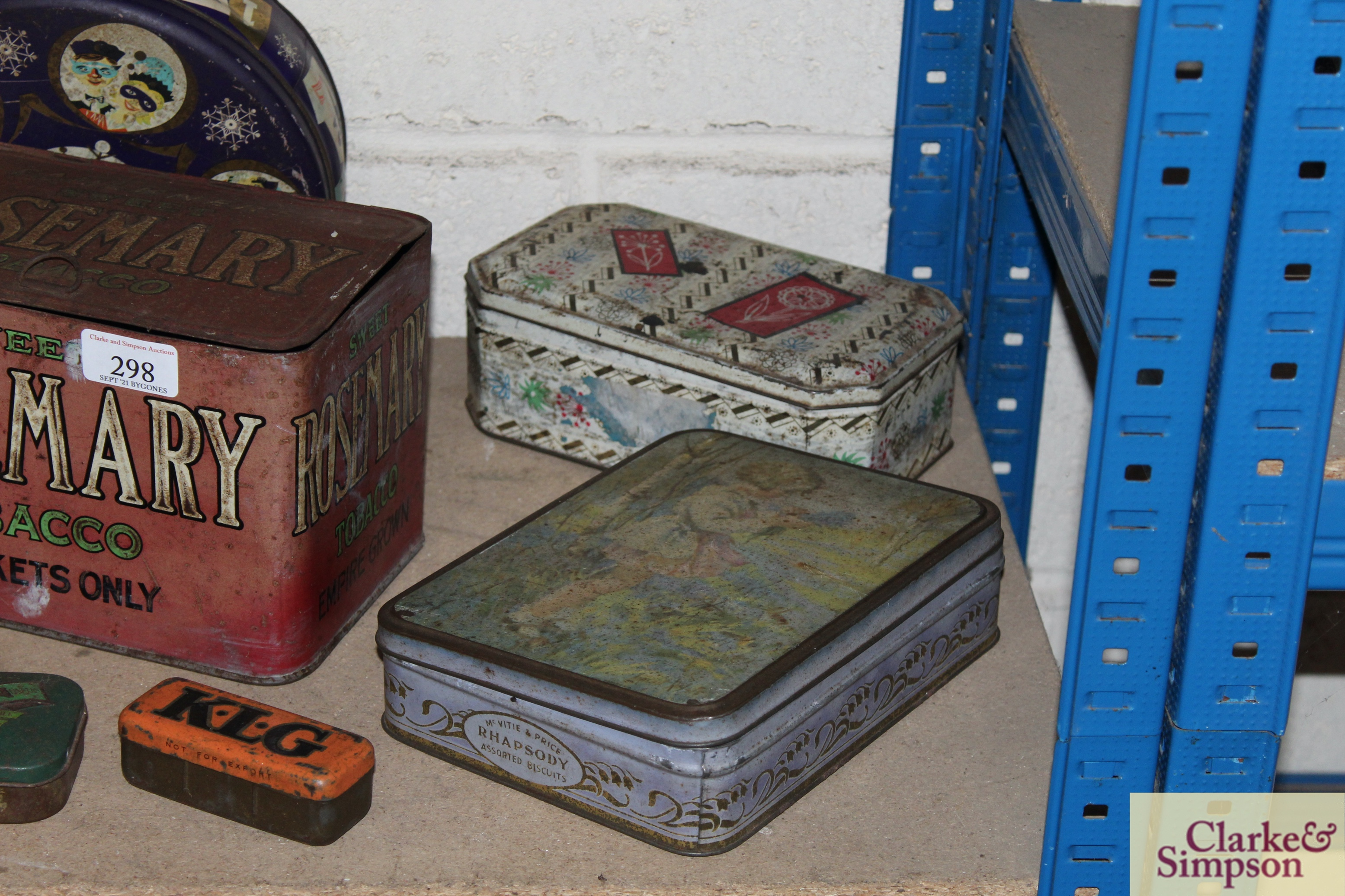 A collection of vintage advertising tins including - Image 4 of 4