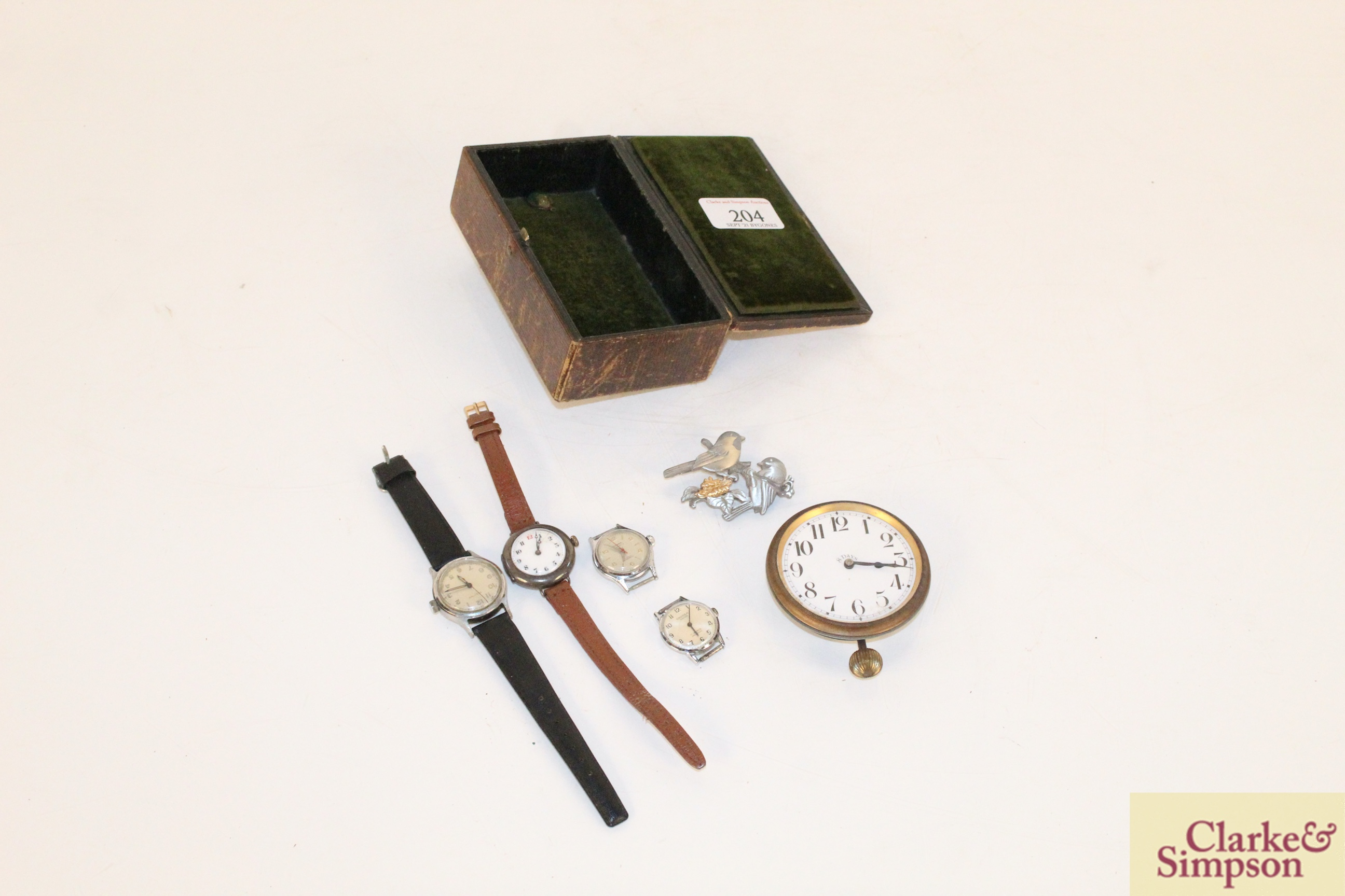 Four various vintage ladies wrist watches, an eight day
