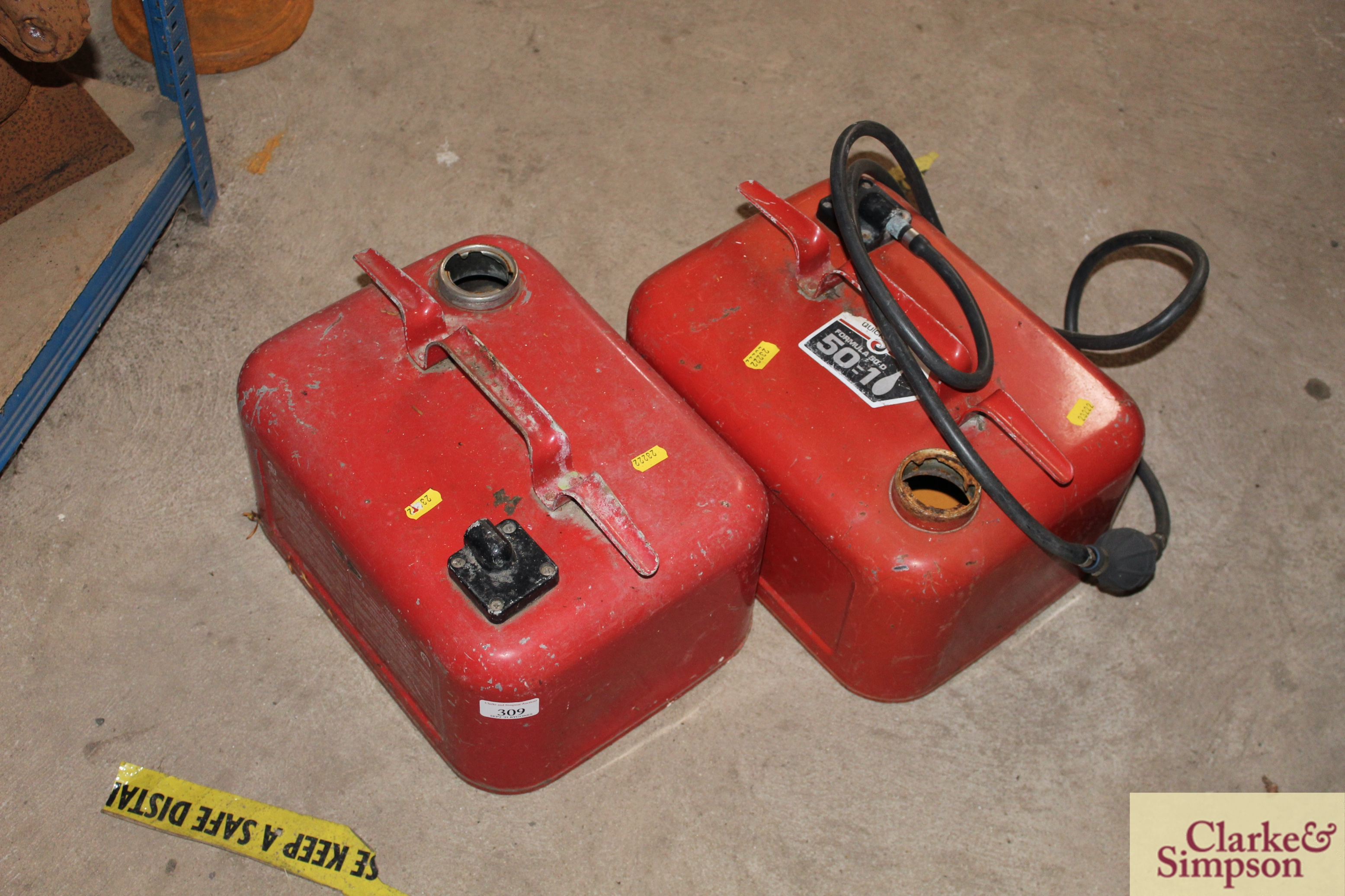 Two boat fuel cans