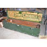 A Thors croquet set by Slazinger London