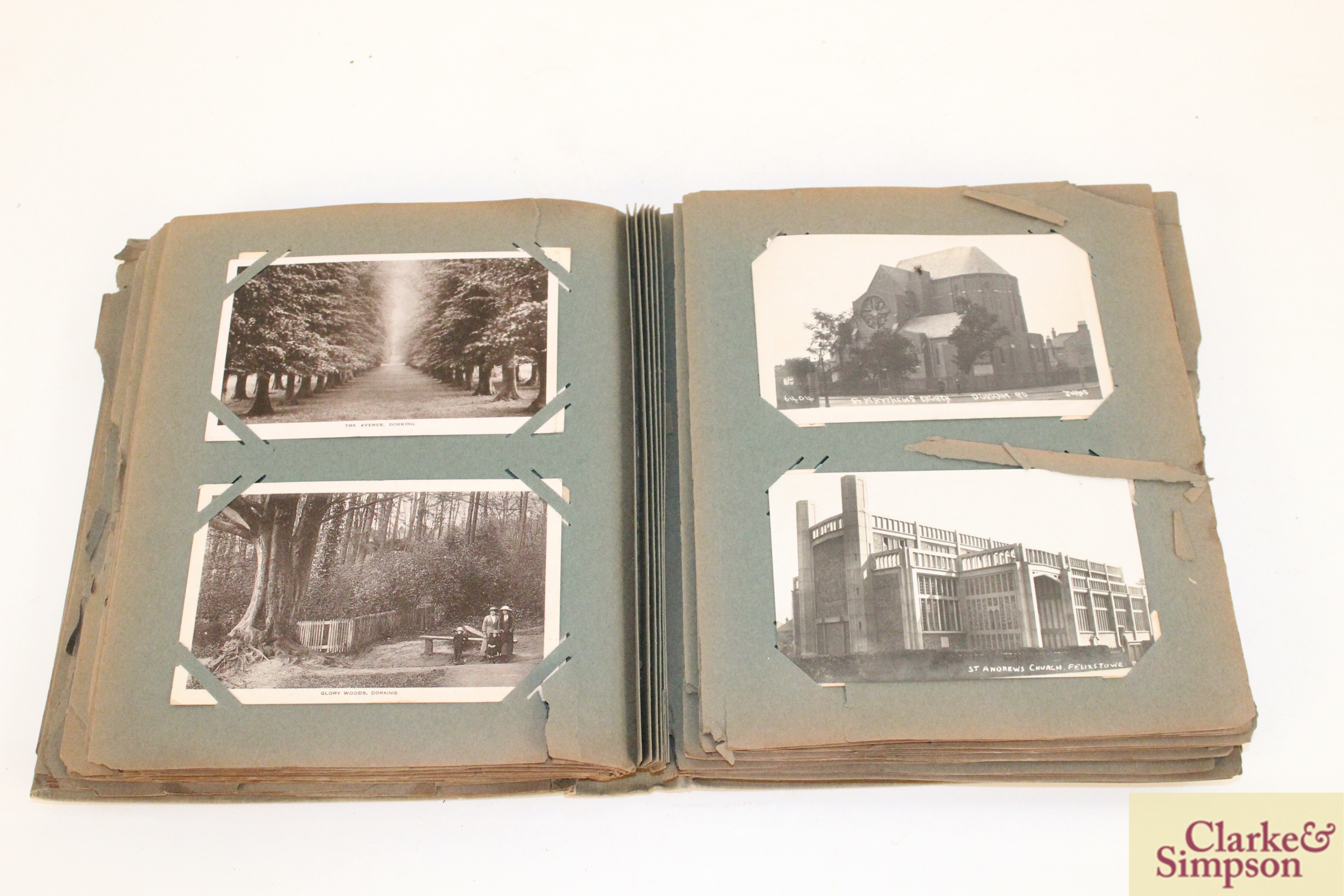An early 20th Century post-card album containing a - Image 3 of 4