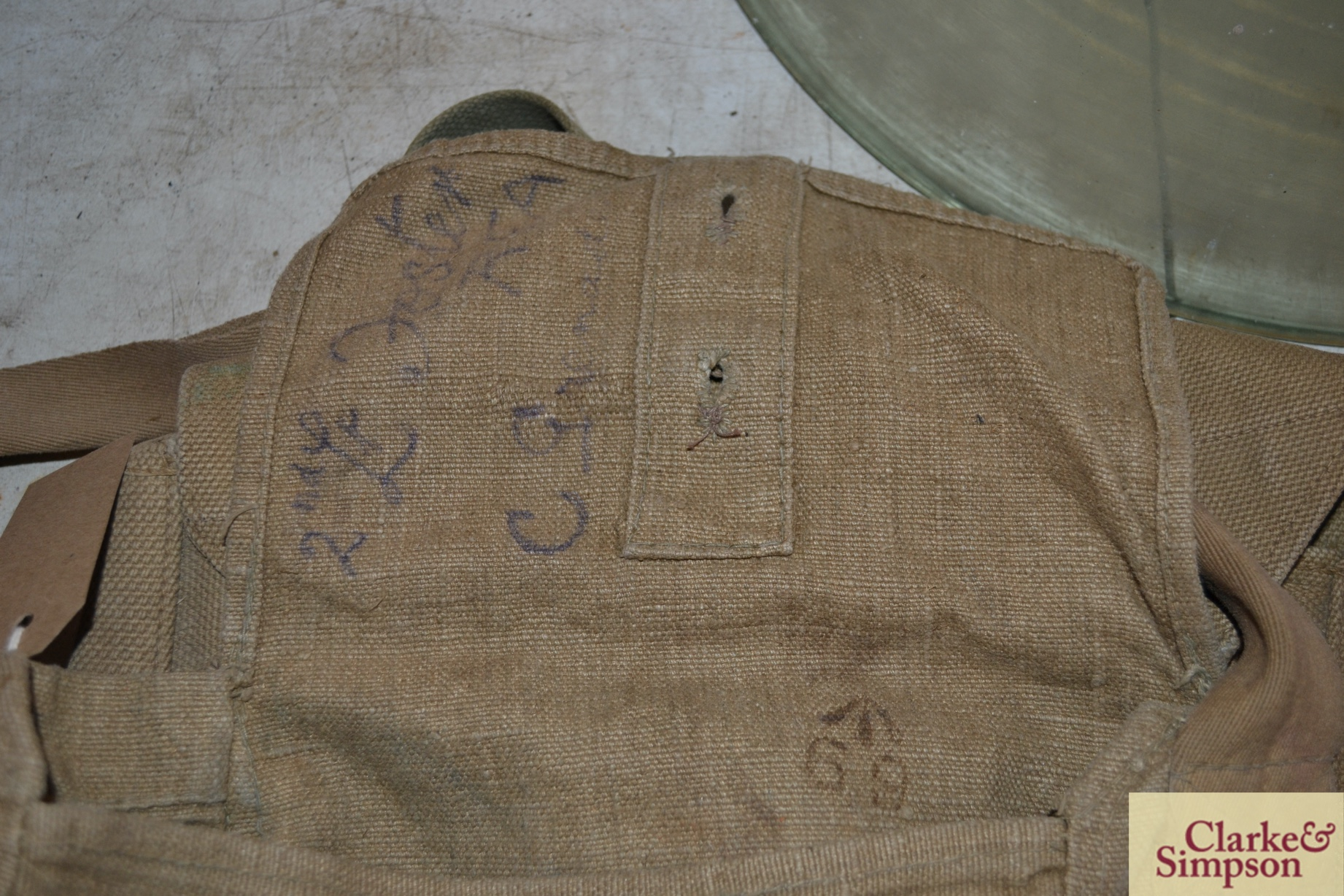 Two ex-war department canvas carrying bags - Image 6 of 7