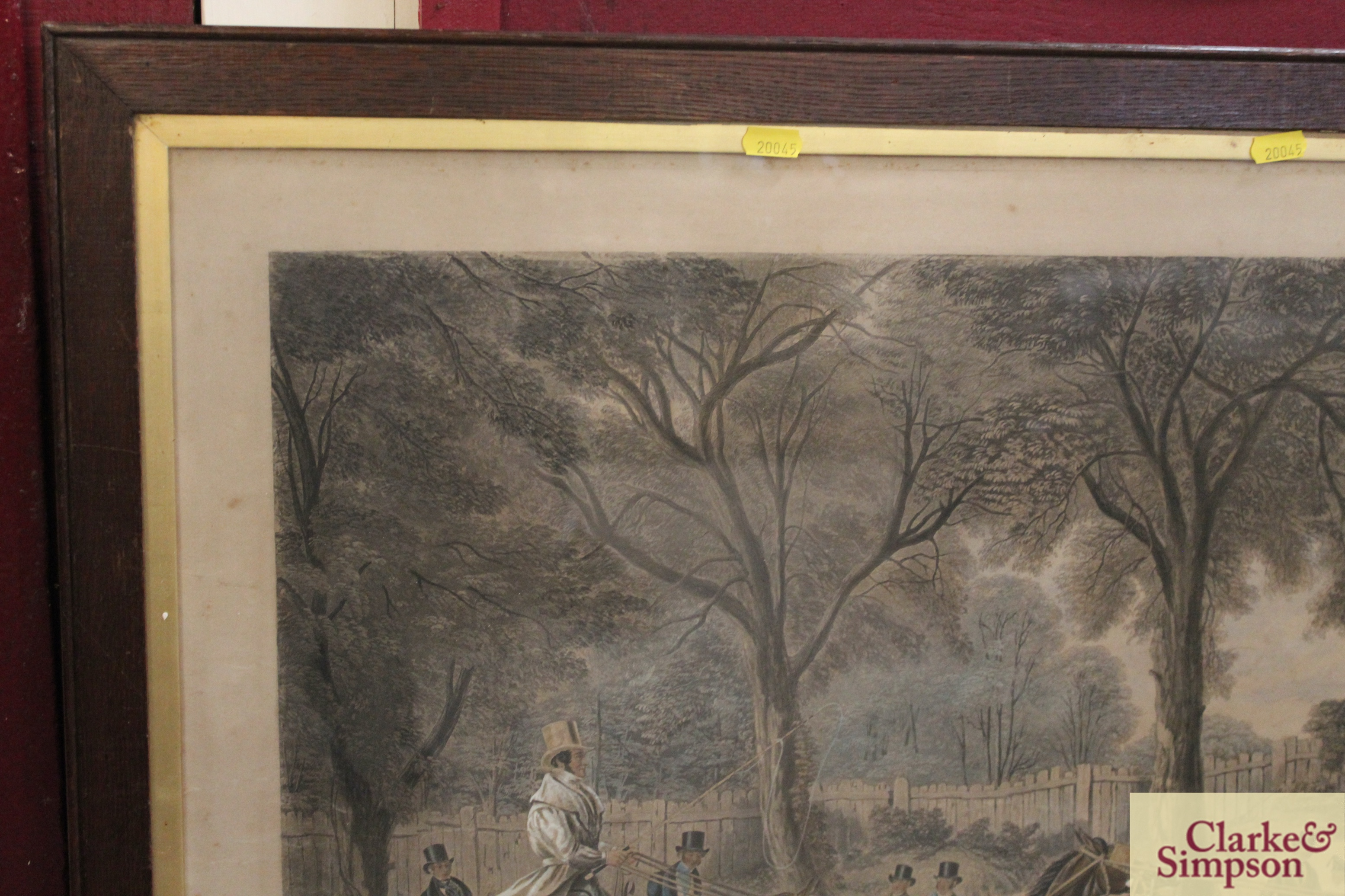 """A 19th Century lithograph """"Extraordinary Trotting - Image 3 of 6"""