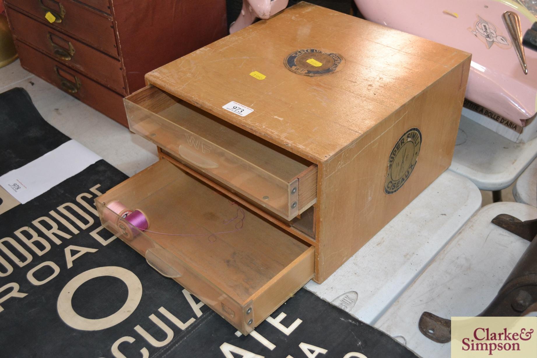 A WF Super Simili set of Ciseaux reel drawers - Image 2 of 2