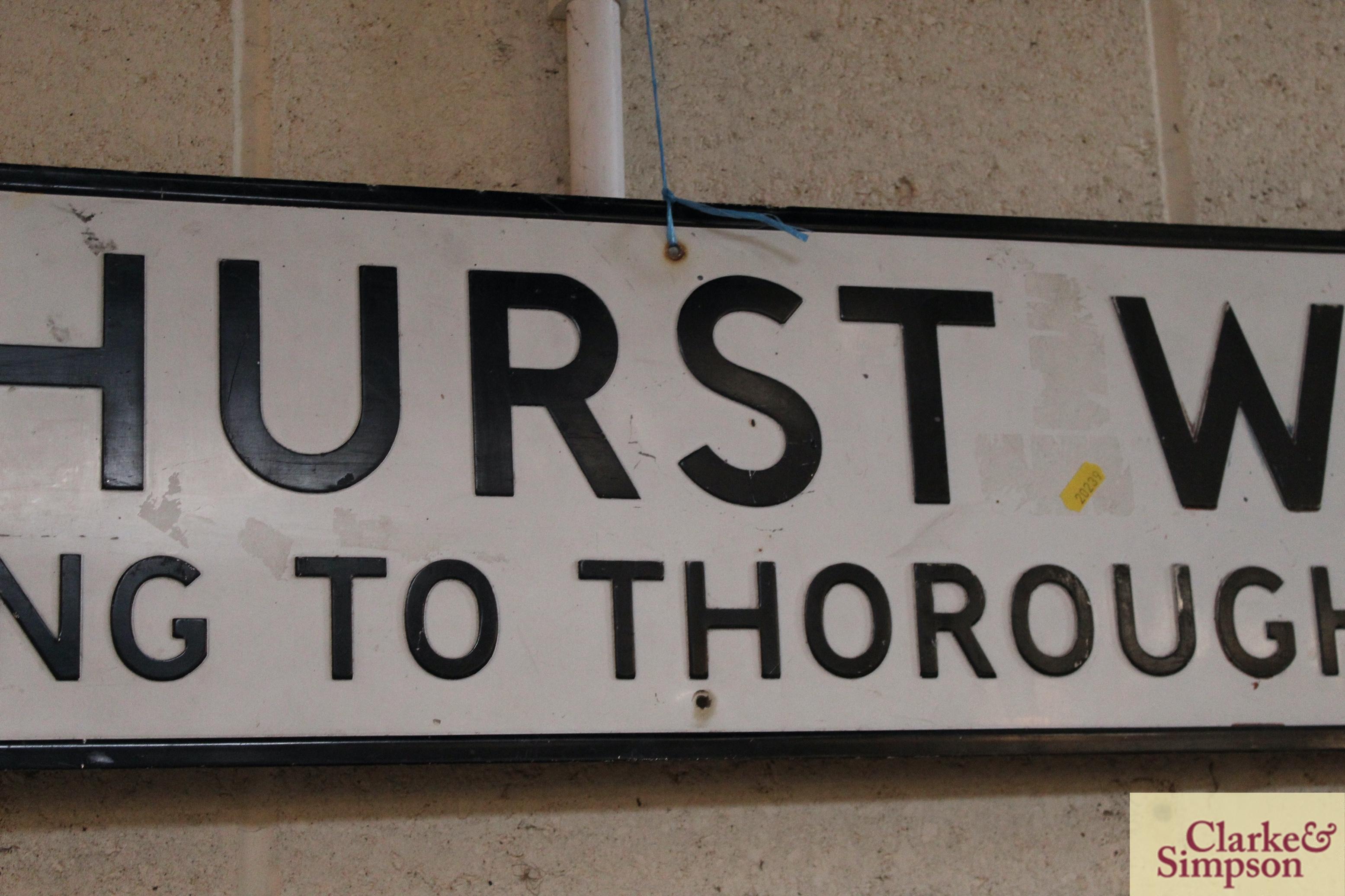 "A metal street sign ""Elmhurst Walk, Leading To Tho - Image 3 of 4"