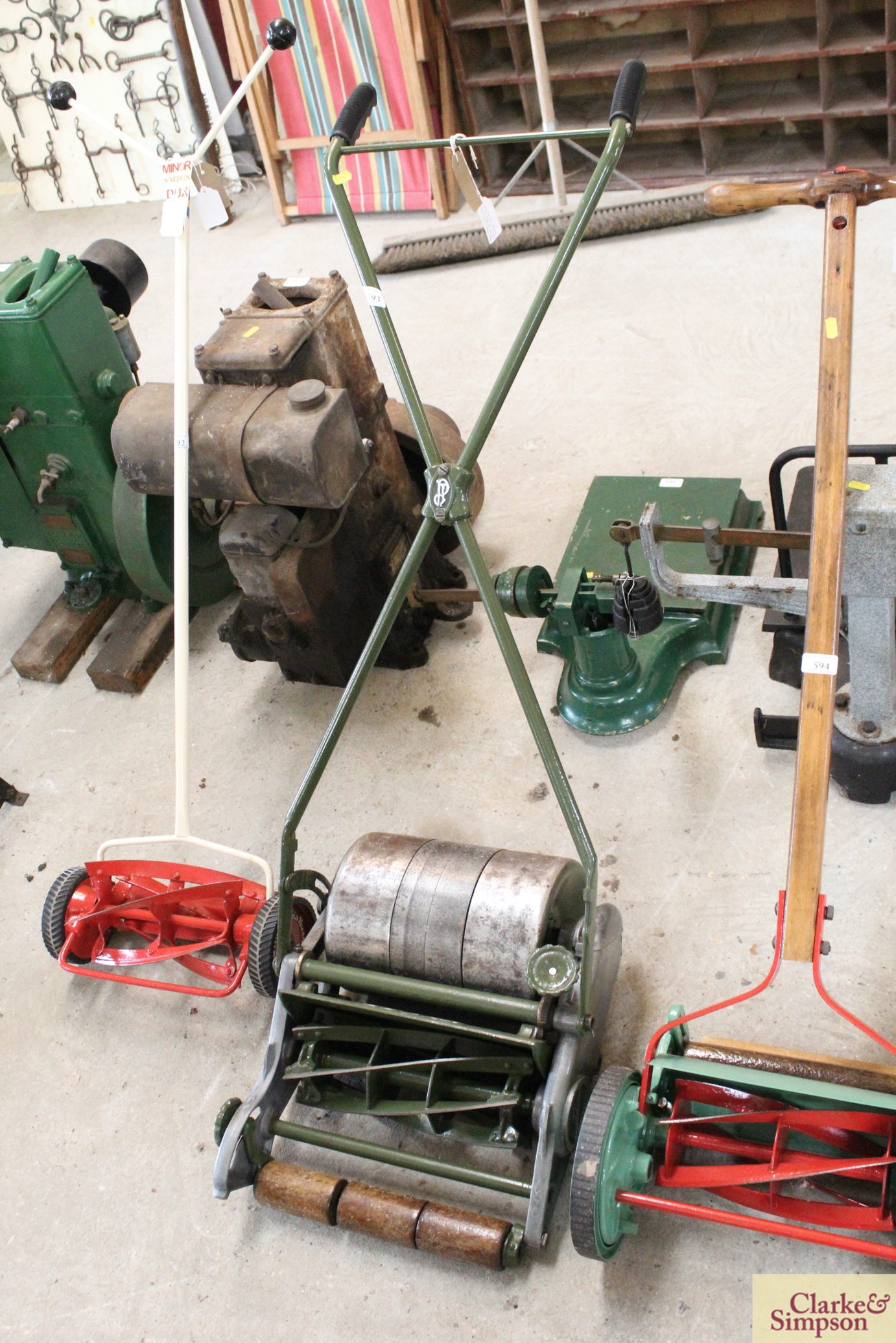 """A Jerome & Pearson 12"""" Super cylinder mower - Image 2 of 13"""