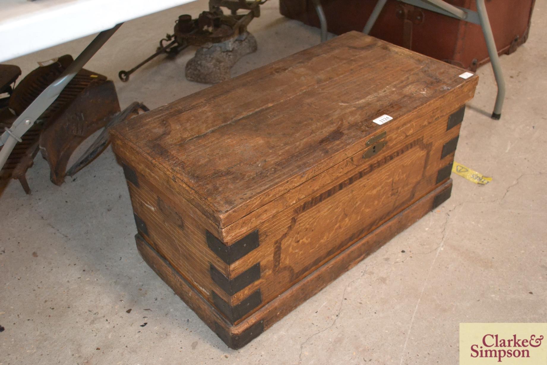 A faux pine 19th Century box