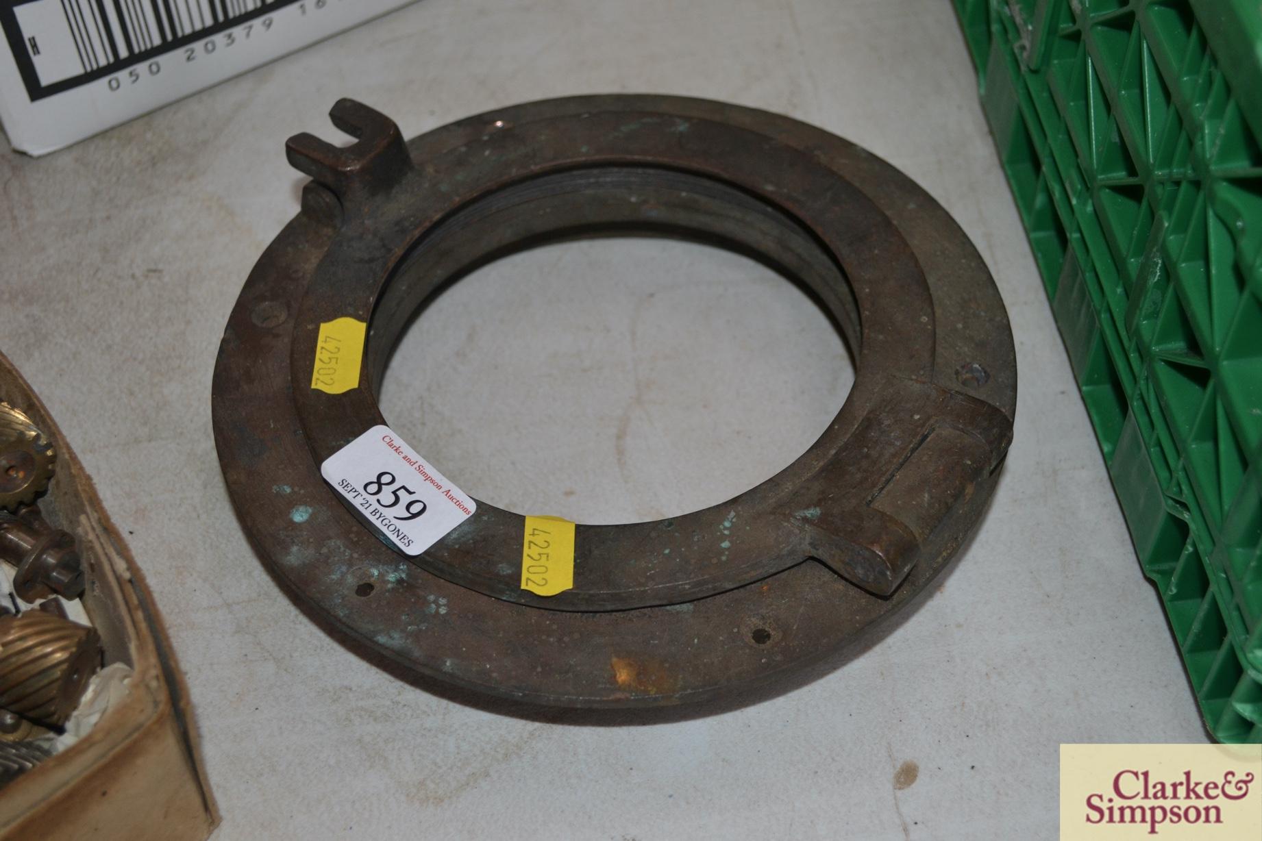 A small brass porthole