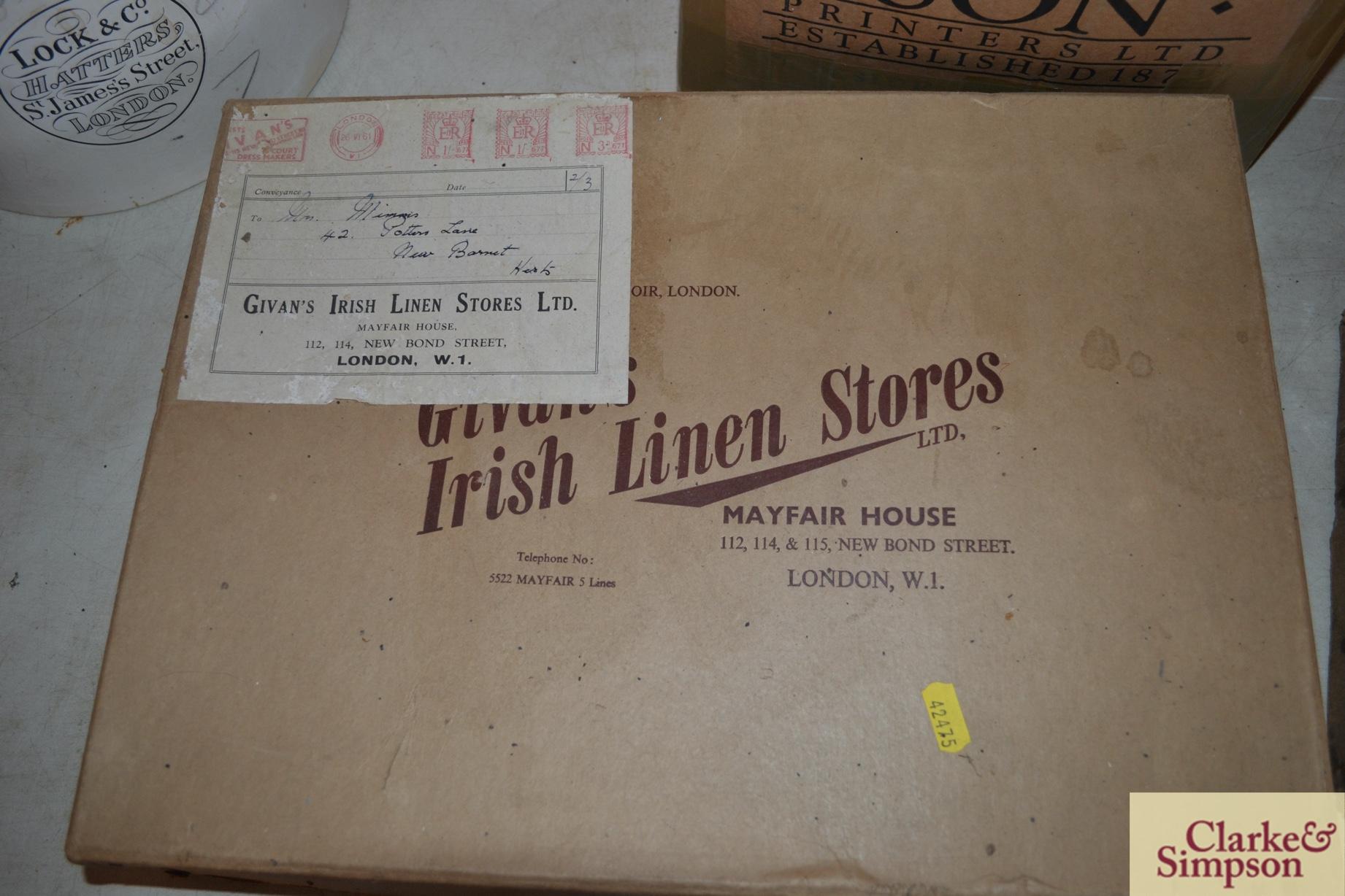 An advertising cardboard box for Girvans Irish Lin - Image 2 of 2