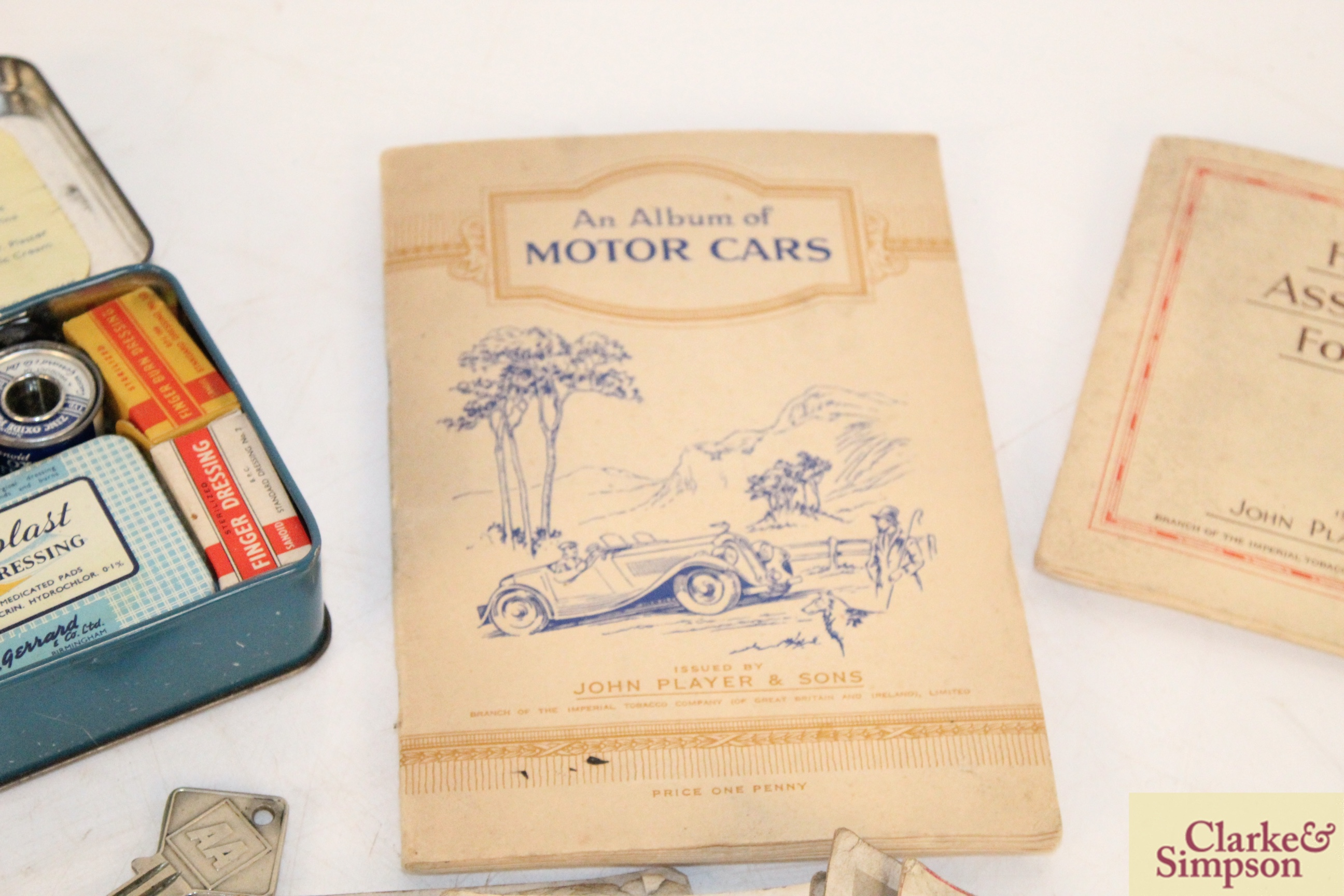 A vintage motorist's First Aid kit; various albums o - Image 3 of 9