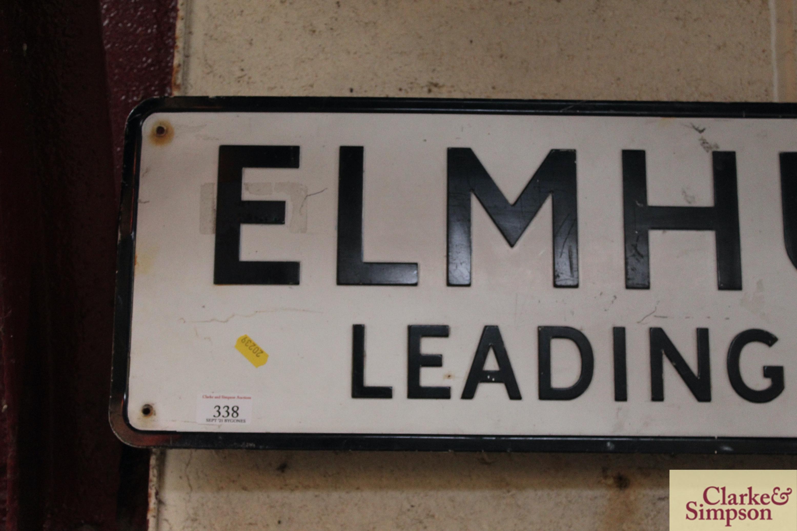 "A metal street sign ""Elmhurst Walk, Leading To Tho - Image 2 of 4"
