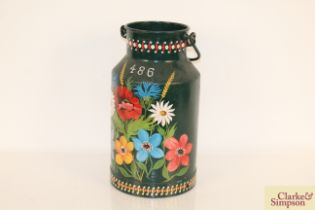 A bargeware decorated churn Numbered 486