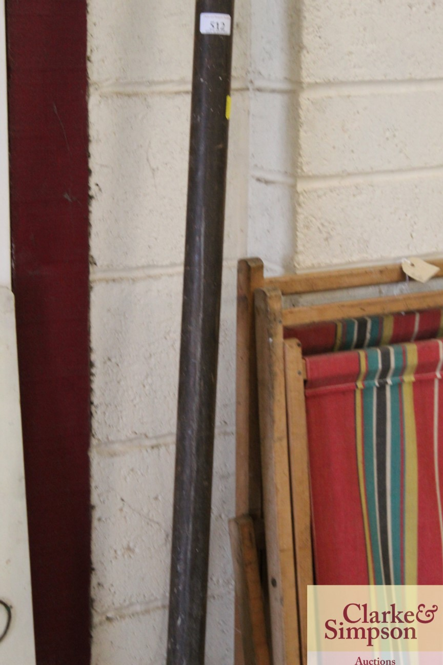 """A large vintage curtain pole approx. 119"""" - Image 3 of 5"""