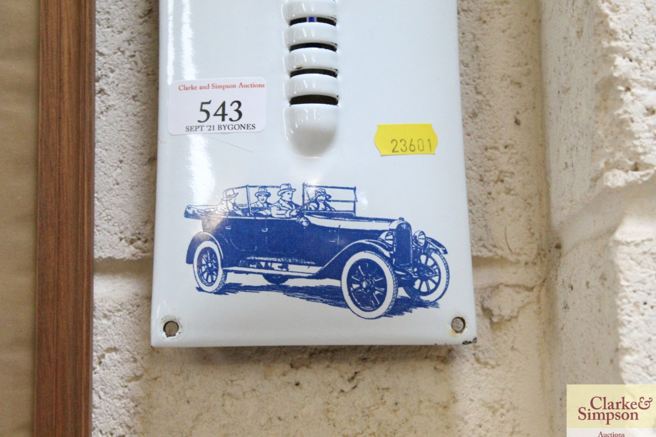 An enamel advertising thermometer for the Austin 7 - Image 5 of 5