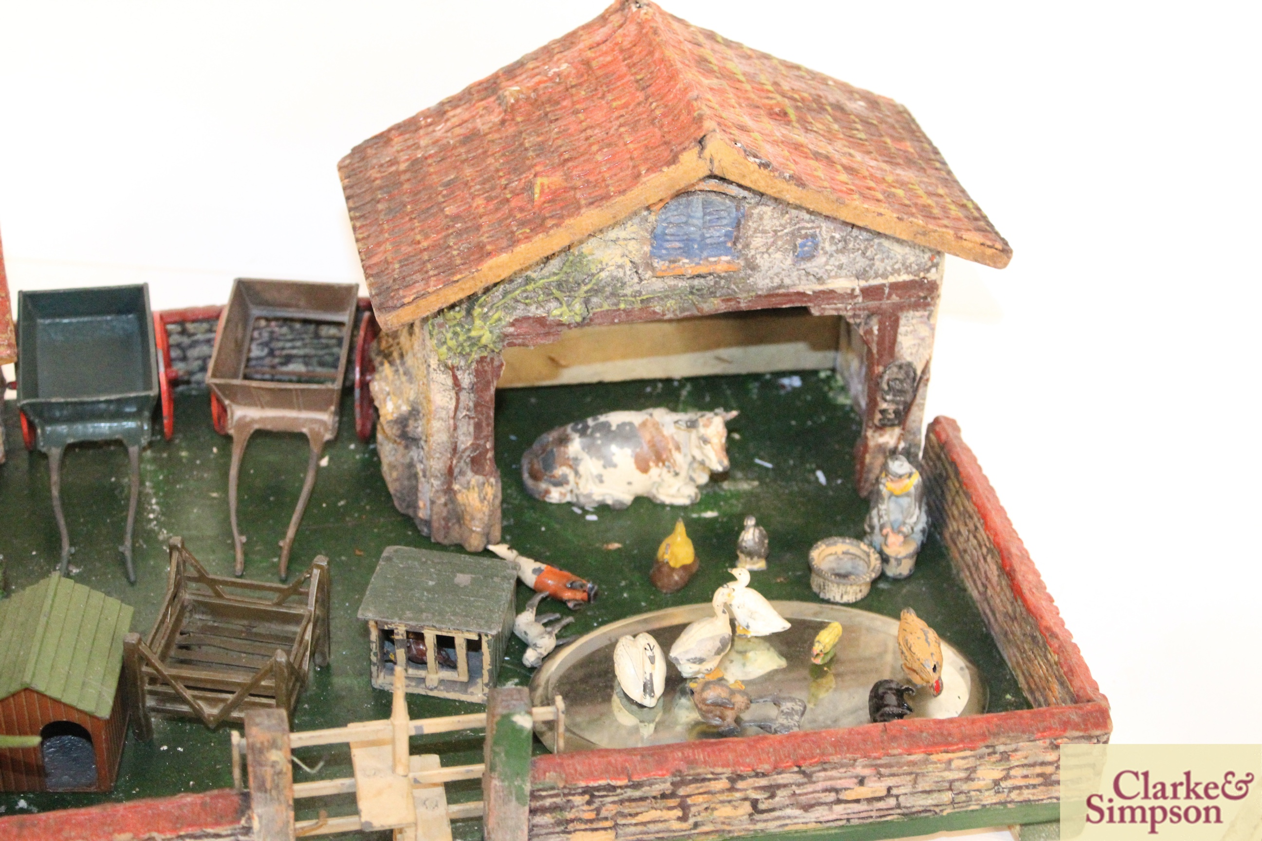 A toy farmyard and a quantity of model lead animals an - Image 4 of 8