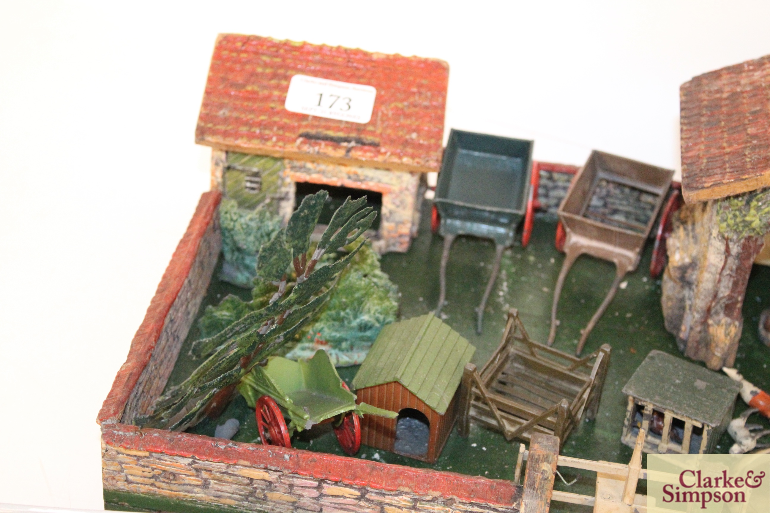 A toy farmyard and a quantity of model lead animals an - Image 3 of 8