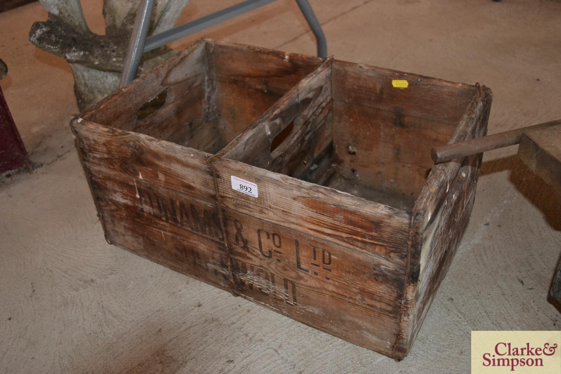 An Adnams & Co. Ltd. Southwold advertising crate