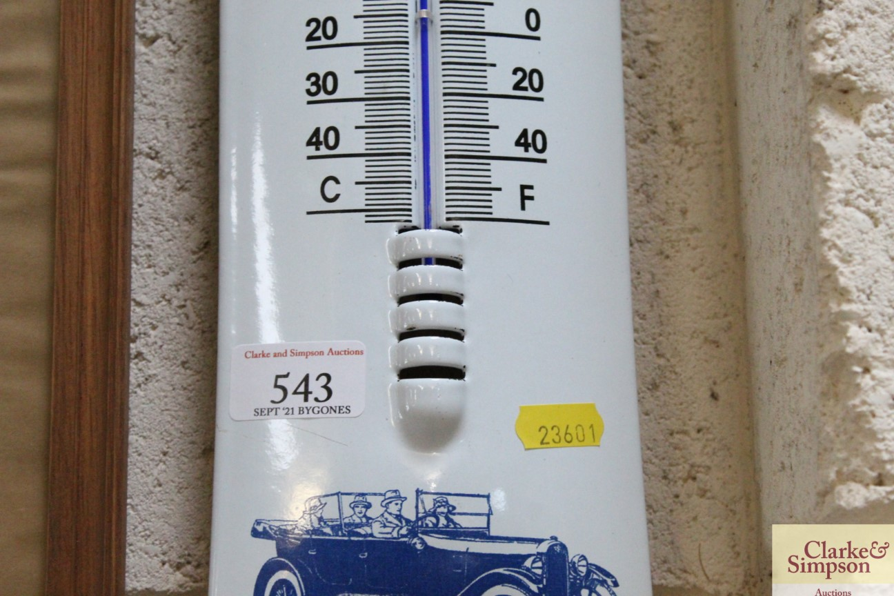 An enamel advertising thermometer for the Austin 7 - Image 4 of 5