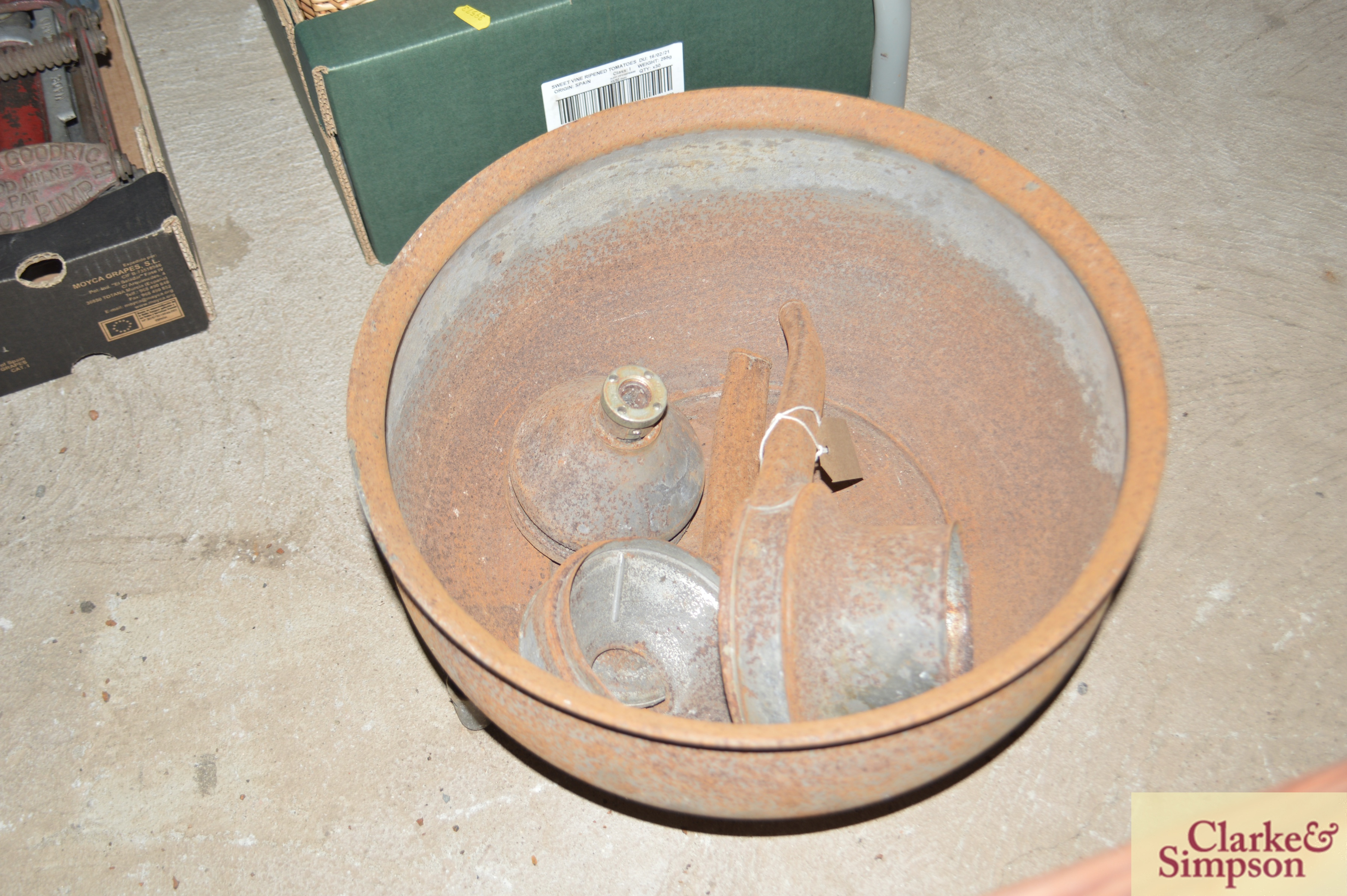 An old butter churn with stand and cream separator - Image 13 of 13
