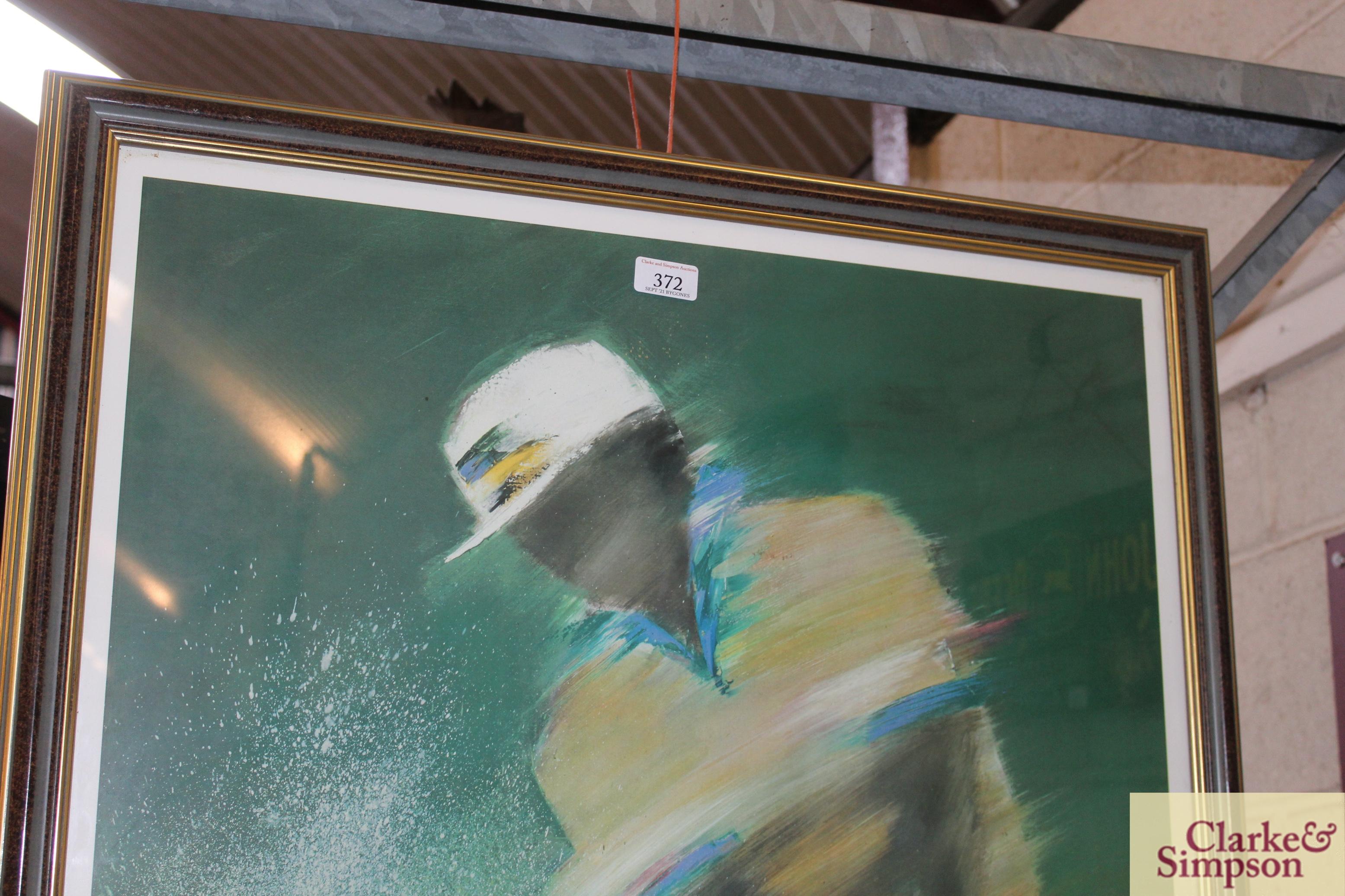 A Lee Travino framed golfing print - Image 2 of 4