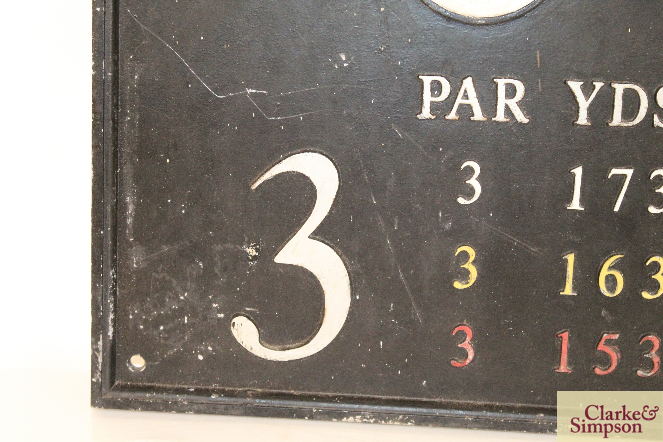 """A cast iron """"Golf Club"""" sign, approx. 15½"""" x 17"""" i - Image 5 of 10"""